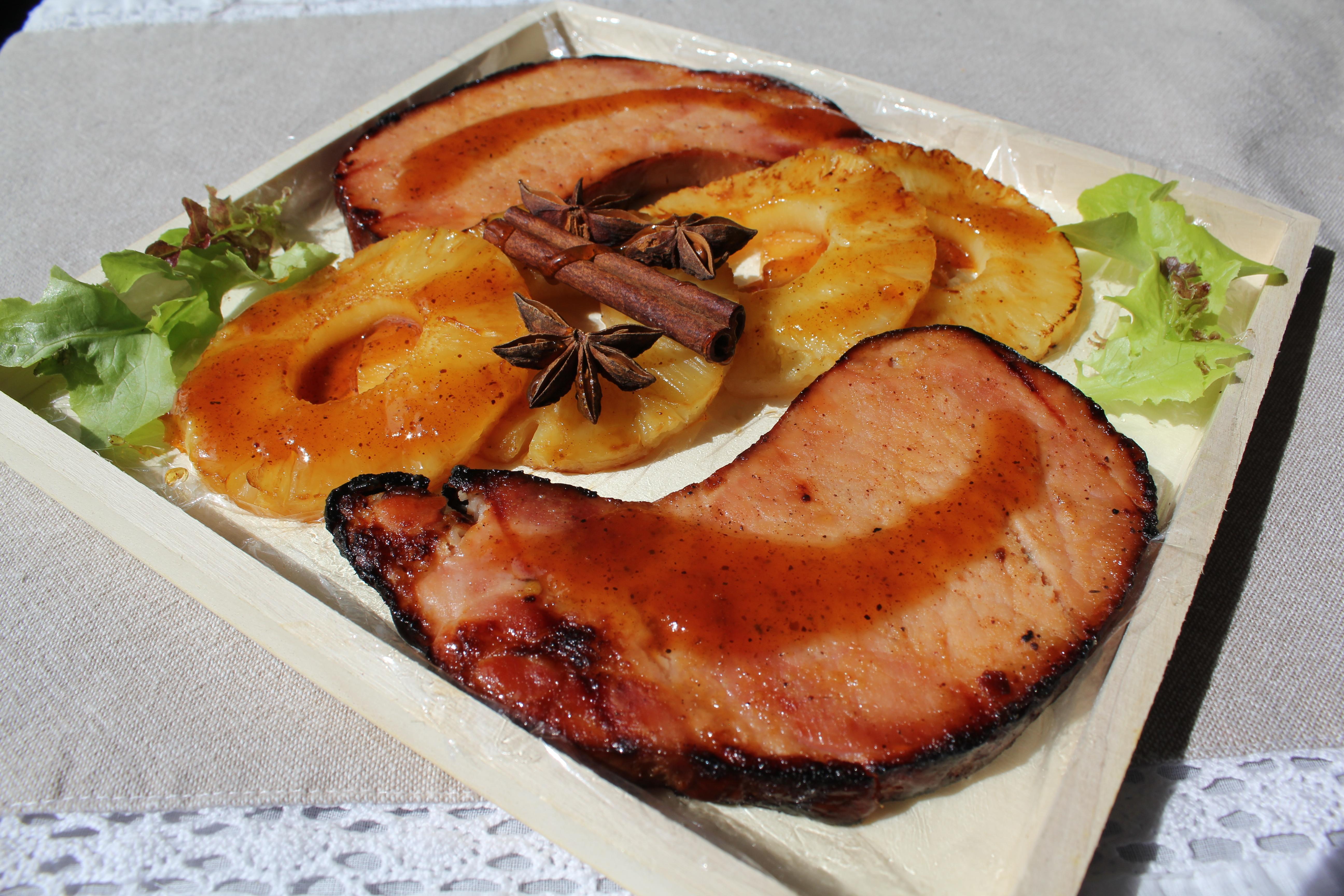 Rôti de porc à la suédoise ou à l'hawaïenne