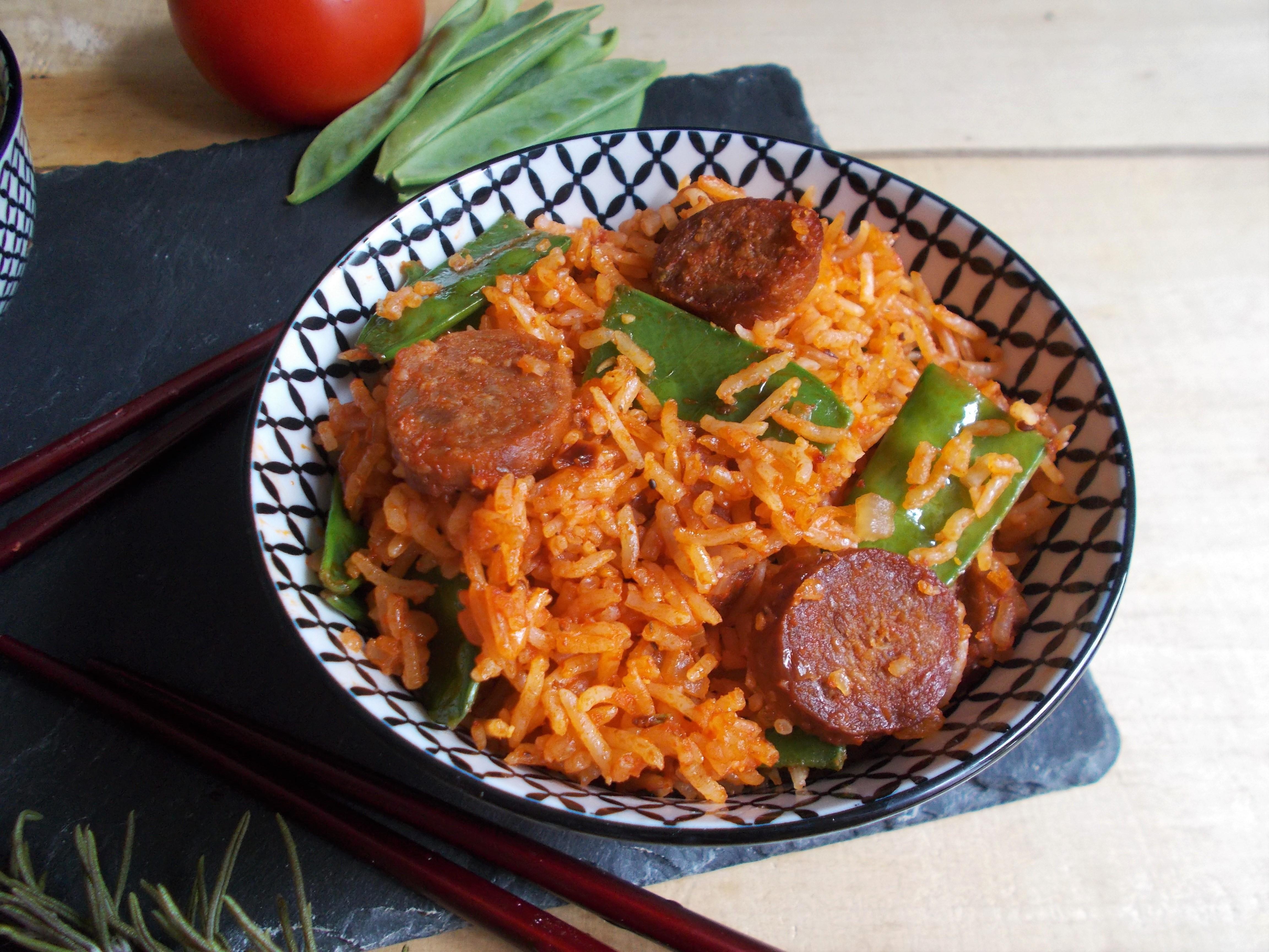 Poêlée de riz tomate et chorizo