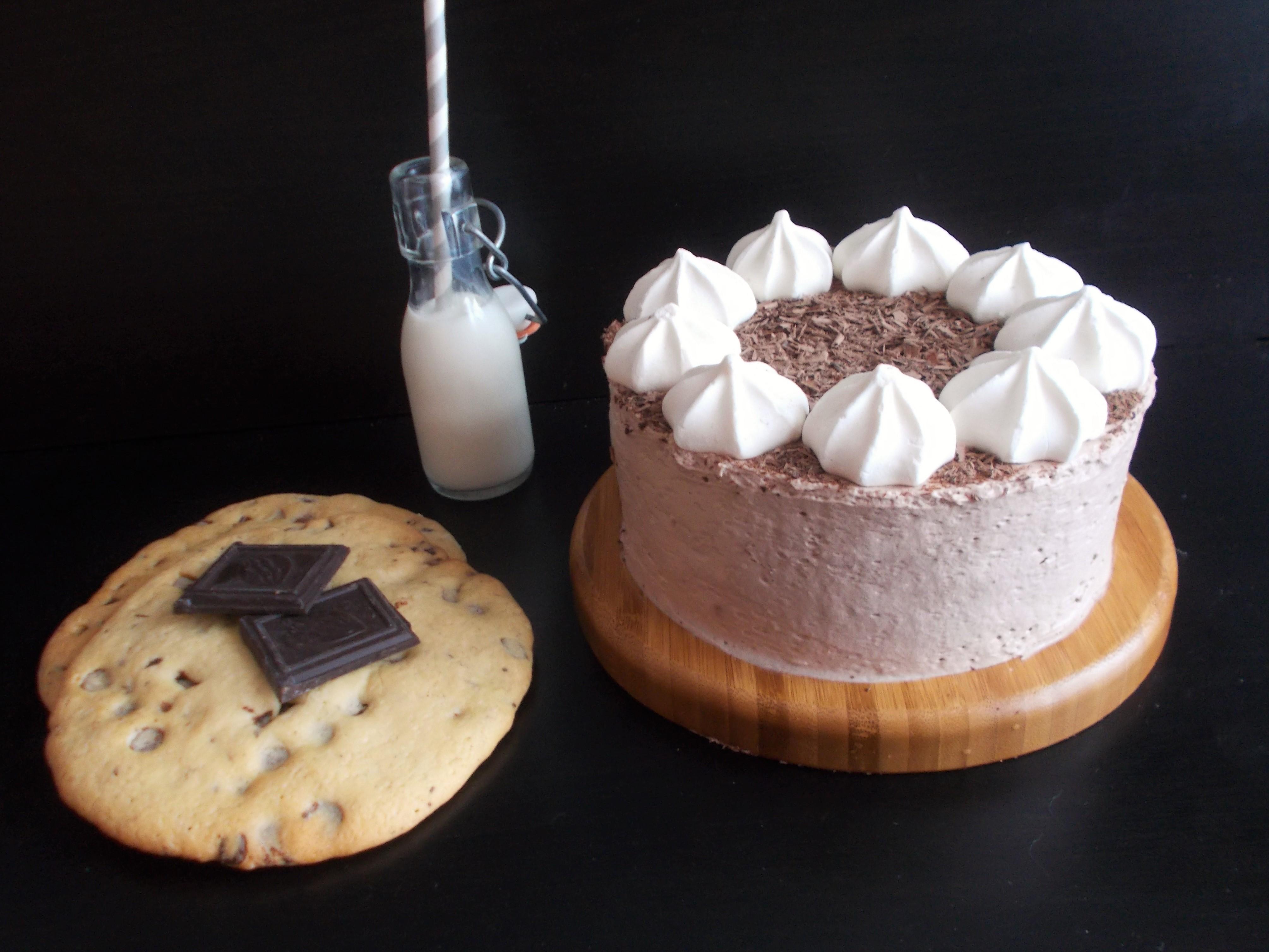 Layer cake aux cookies et chantilly chocolat-noisette
