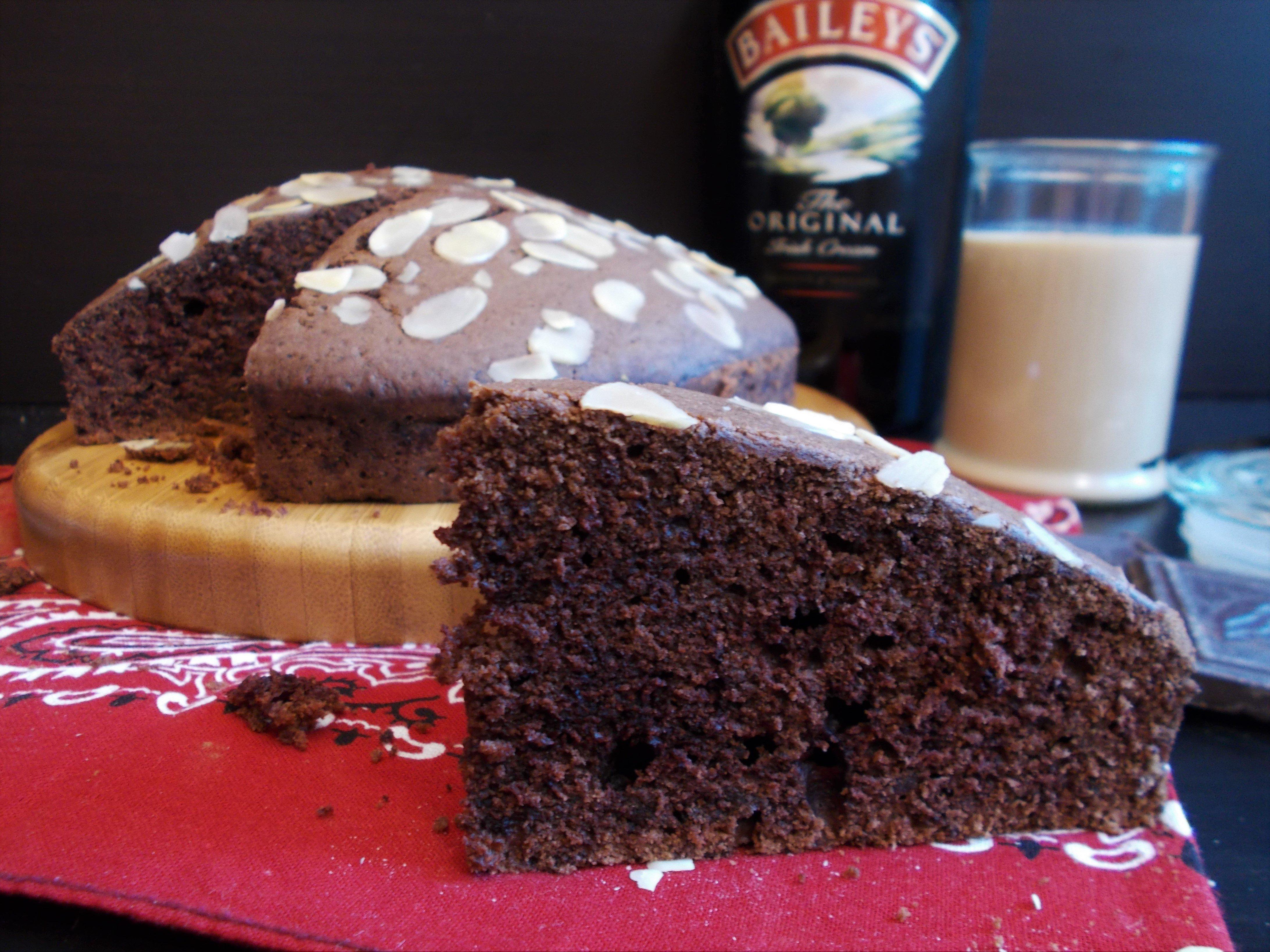 Gâteau au chocolat moelleux parfumé au Baileys