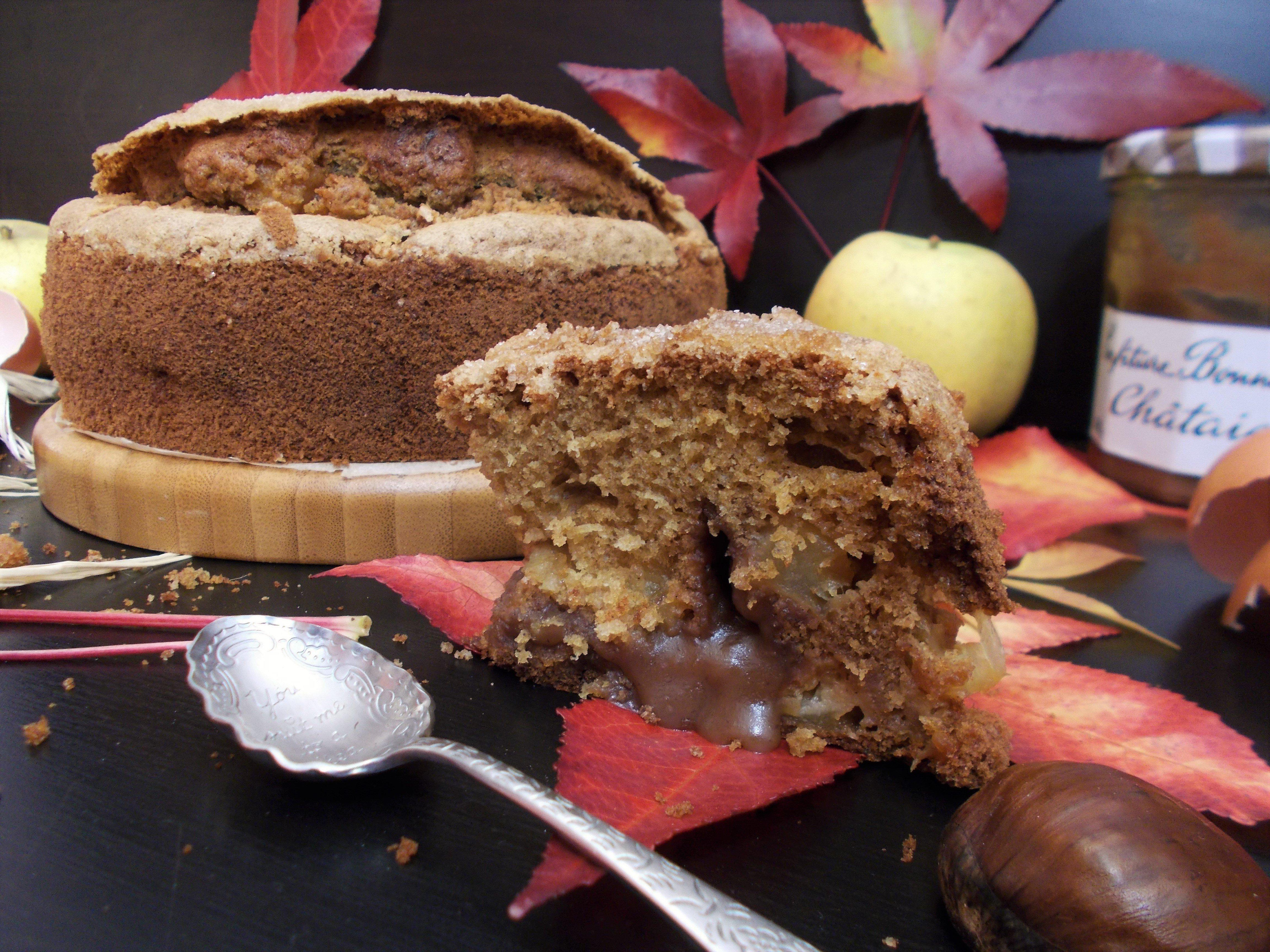 Gâteau aux pommes à la châtaigne