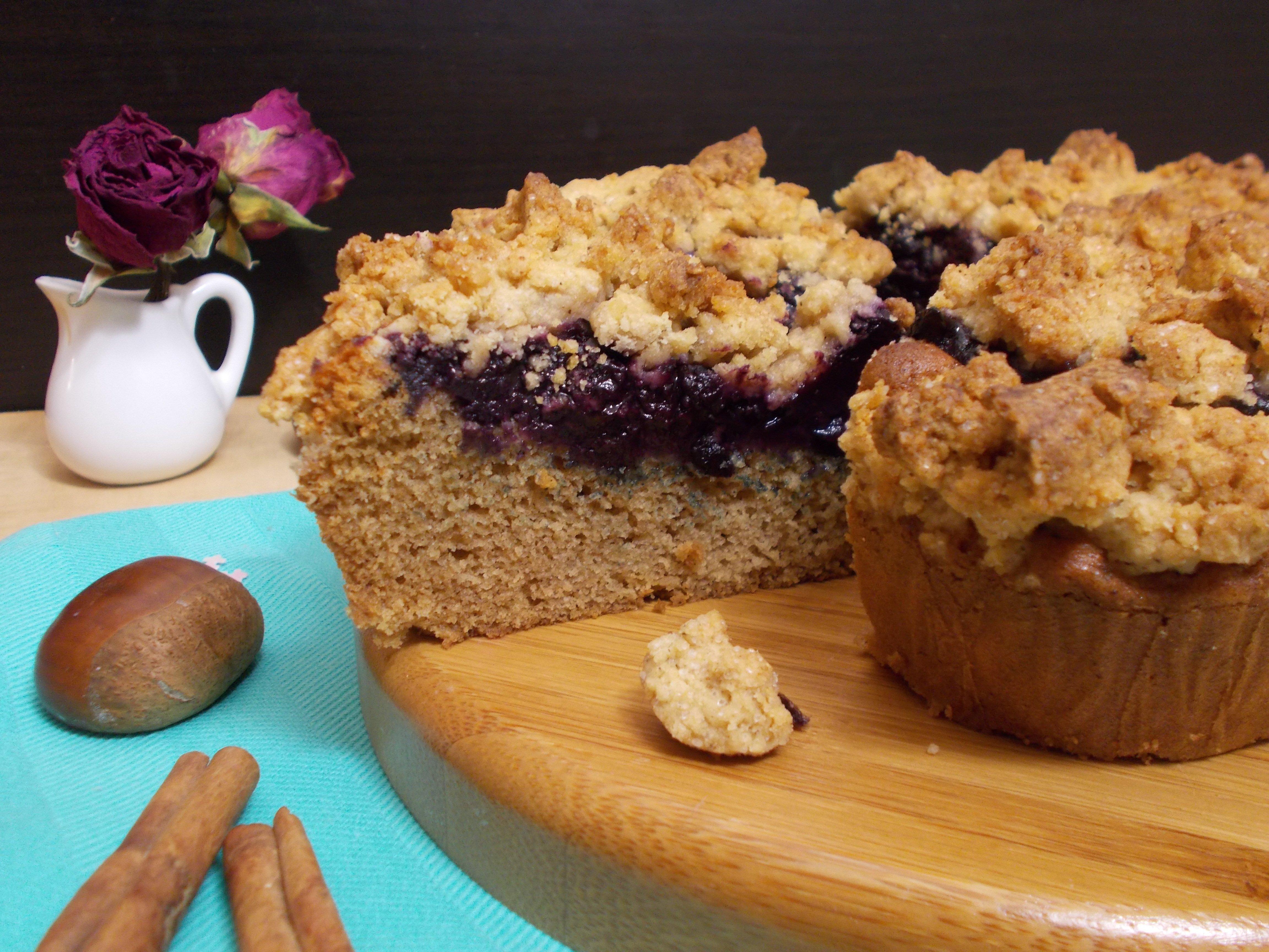 Crumb cake myrtille-châtaigne