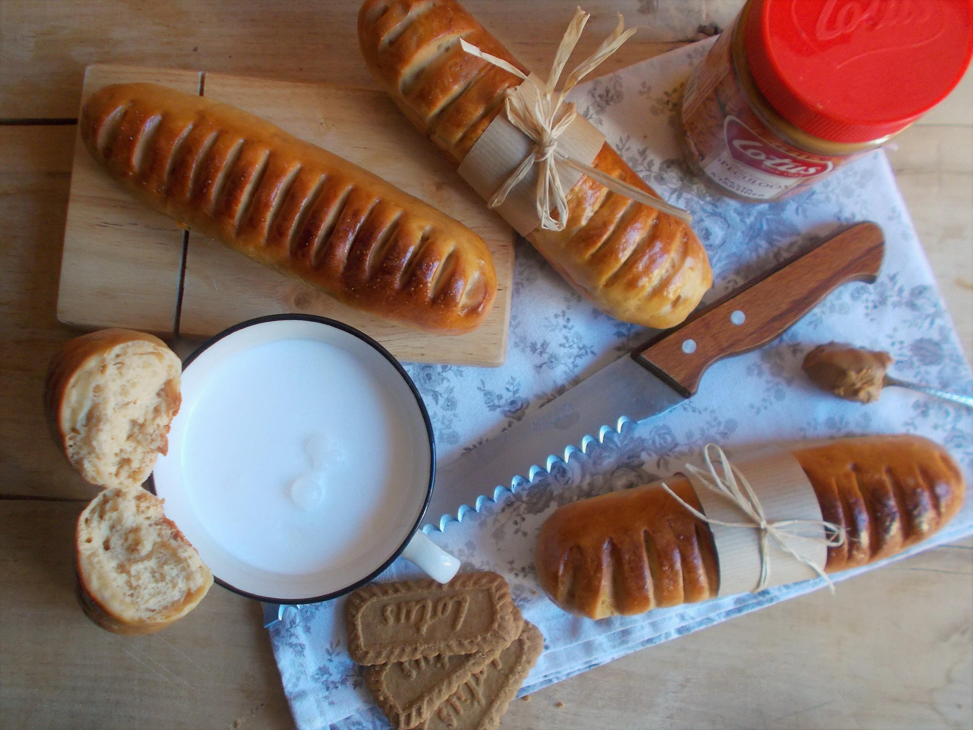 Baguette viennoise à la pâte de spéculoos