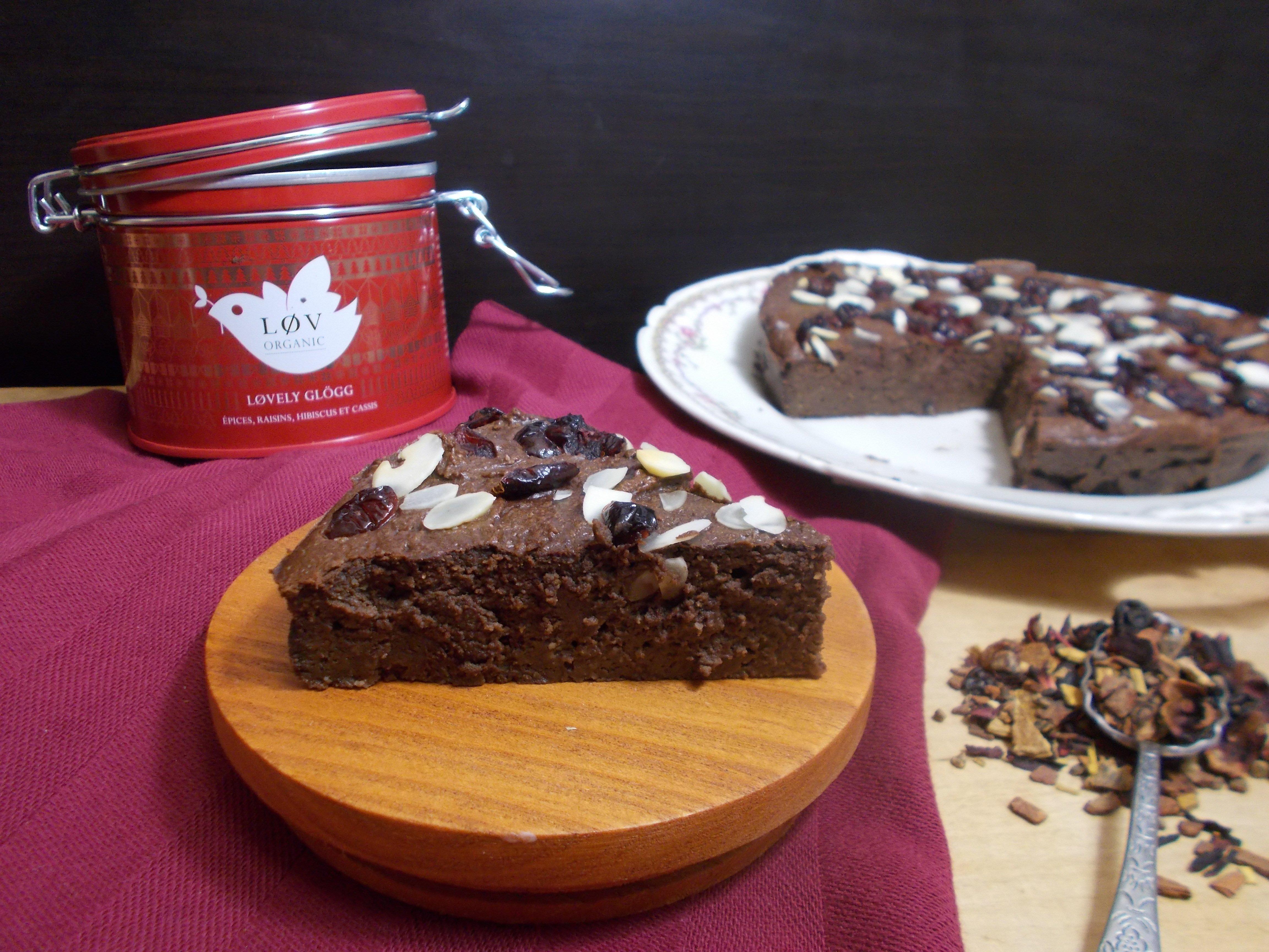 Fondant au chocolat de Noël aux cranberries [sans beurre]