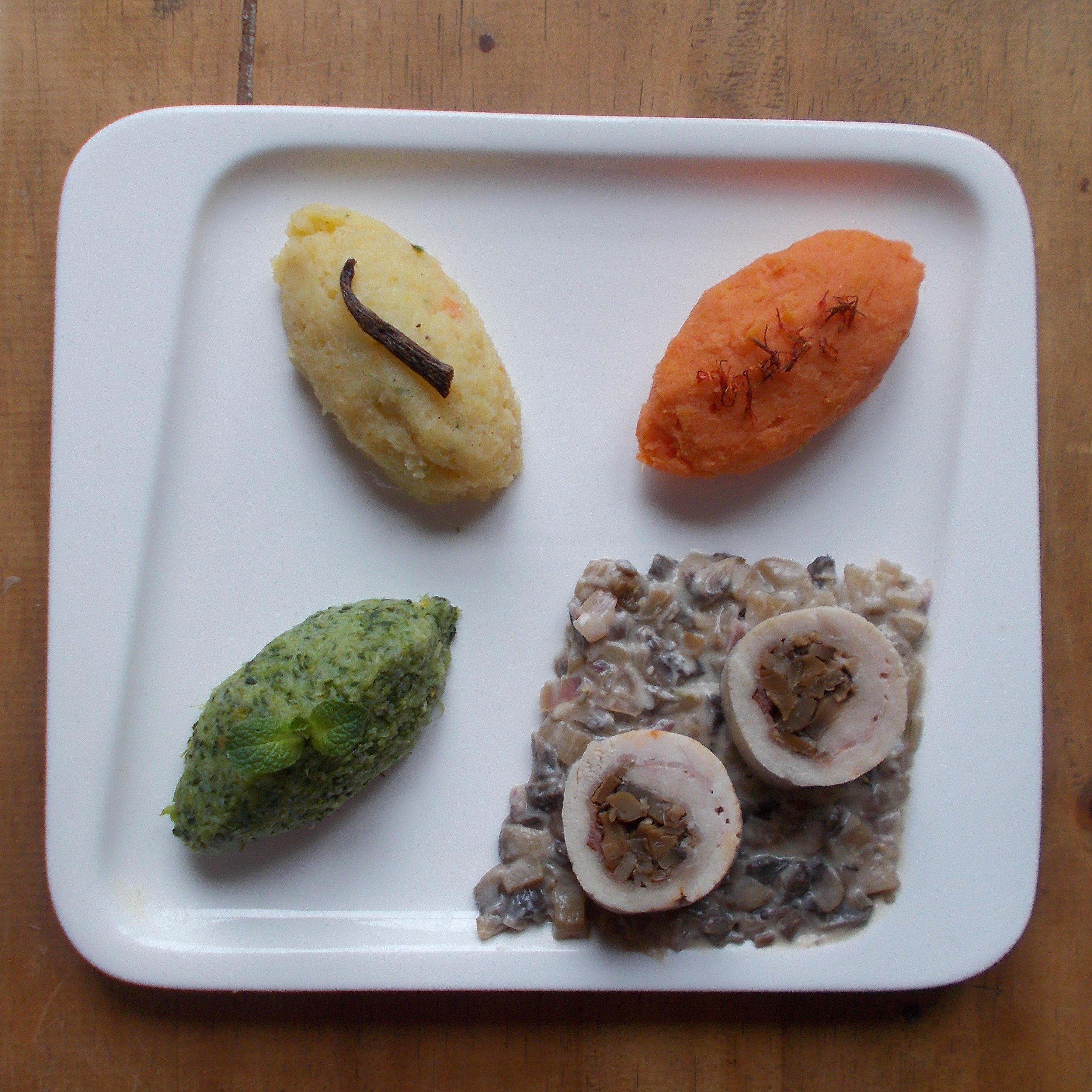 Ballotine de dinde à la duxelle de champignons et jambon cru de la Forêt Noire