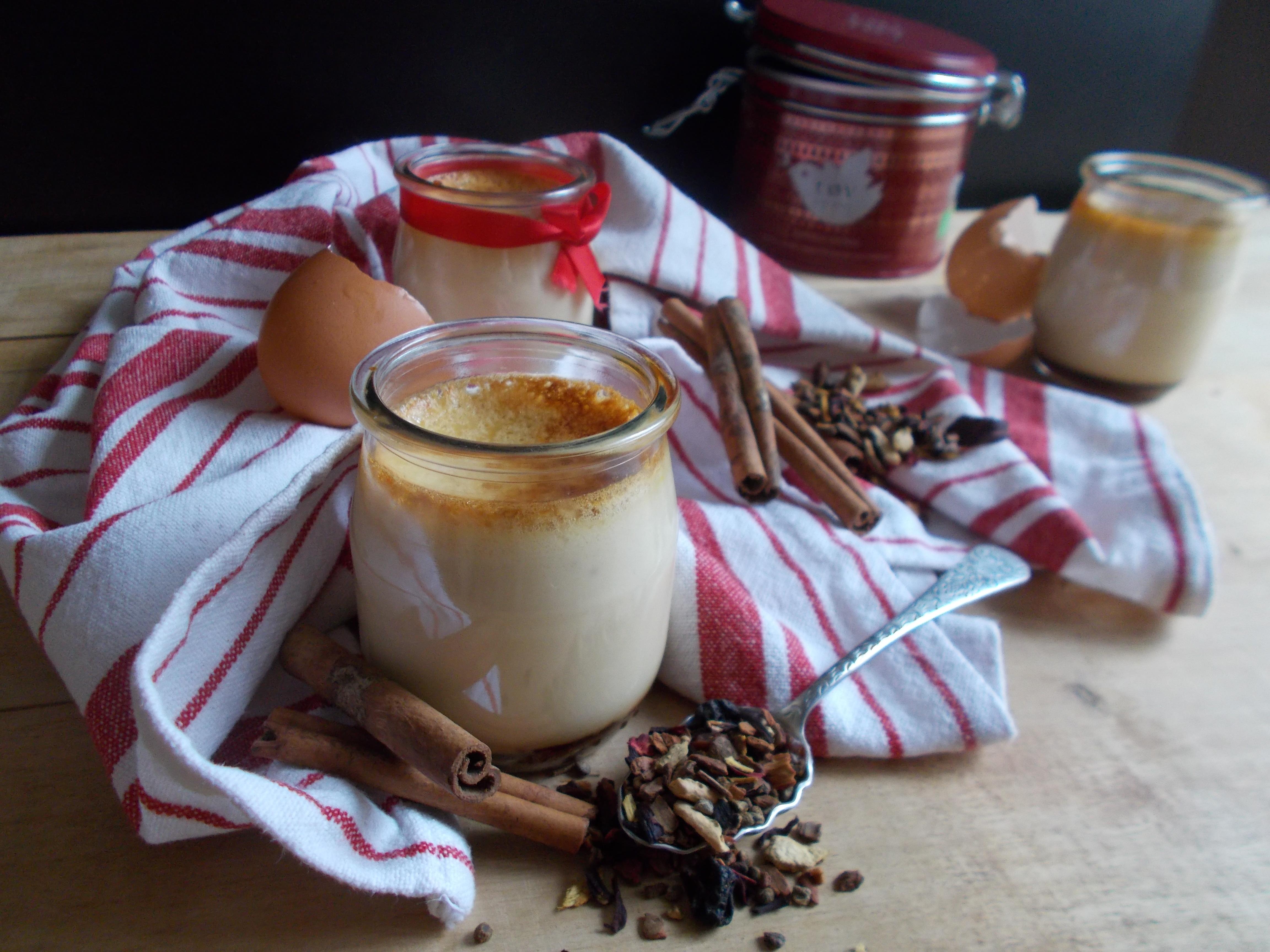 Crème aux oeufs saveur vin chaud