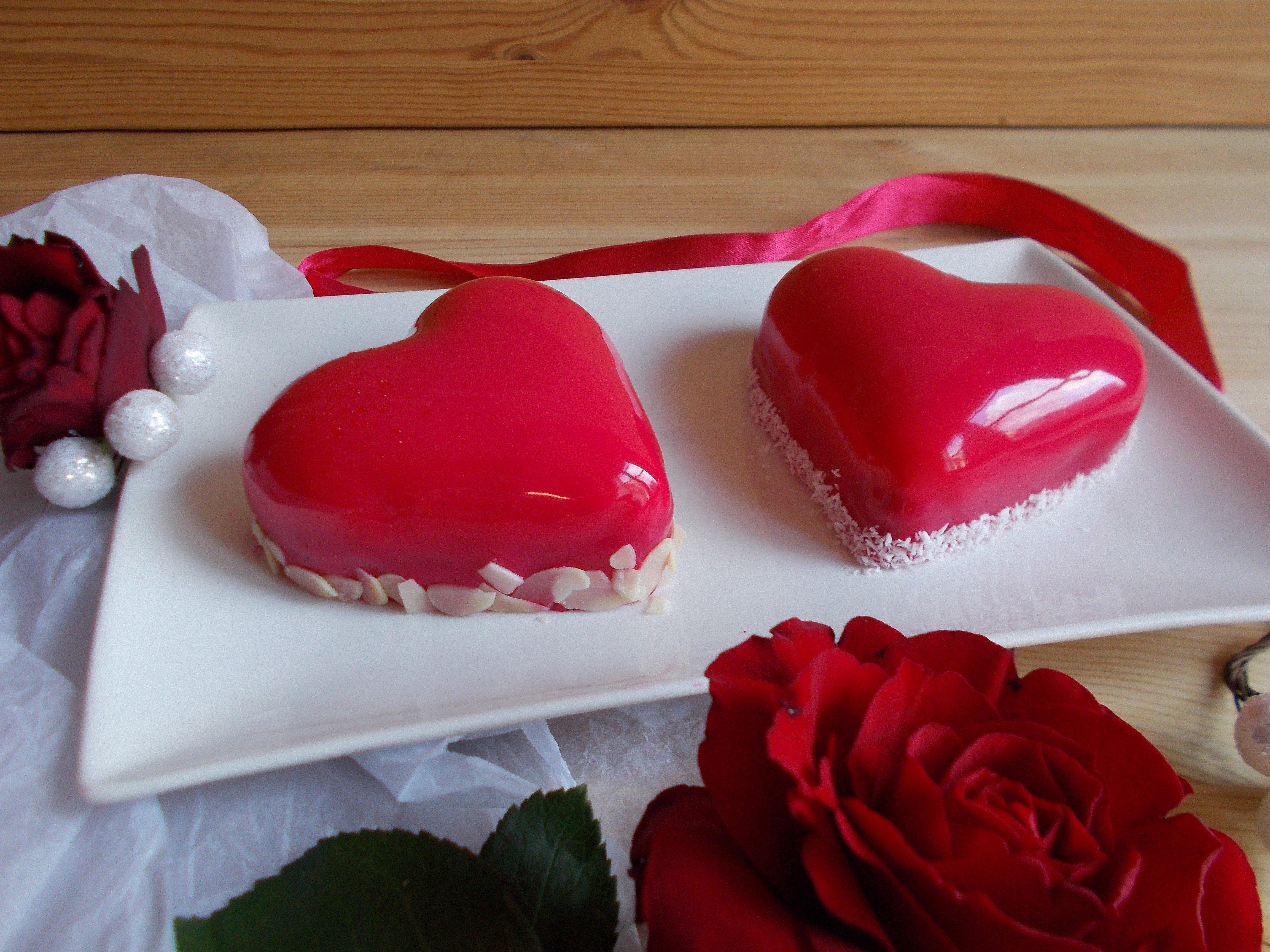 Coeur d 39 amour pour la st valentin nougat fruit rouge et amande toque de choc - Ceour d amour ...