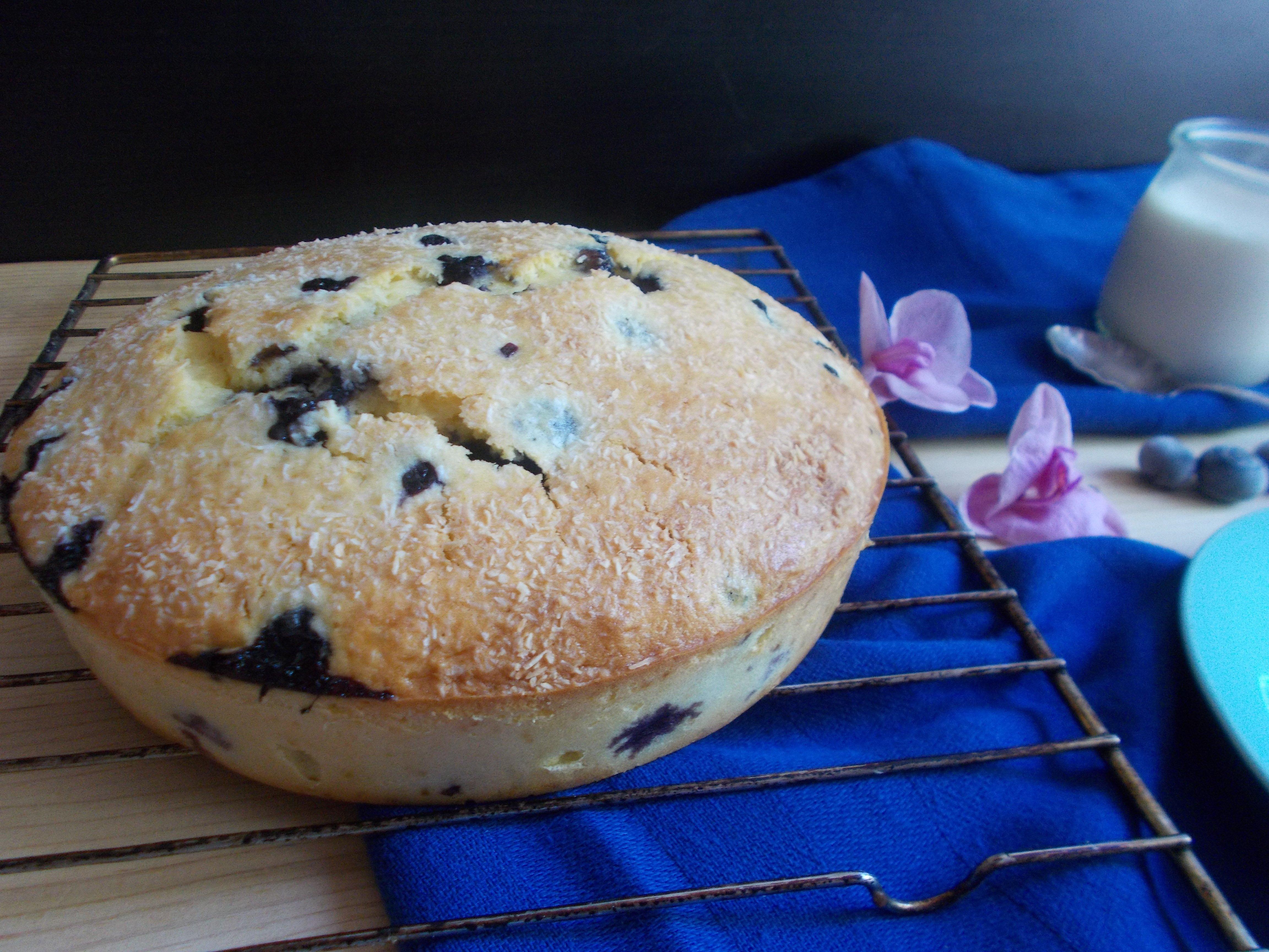 Gâteau myrtille-coco