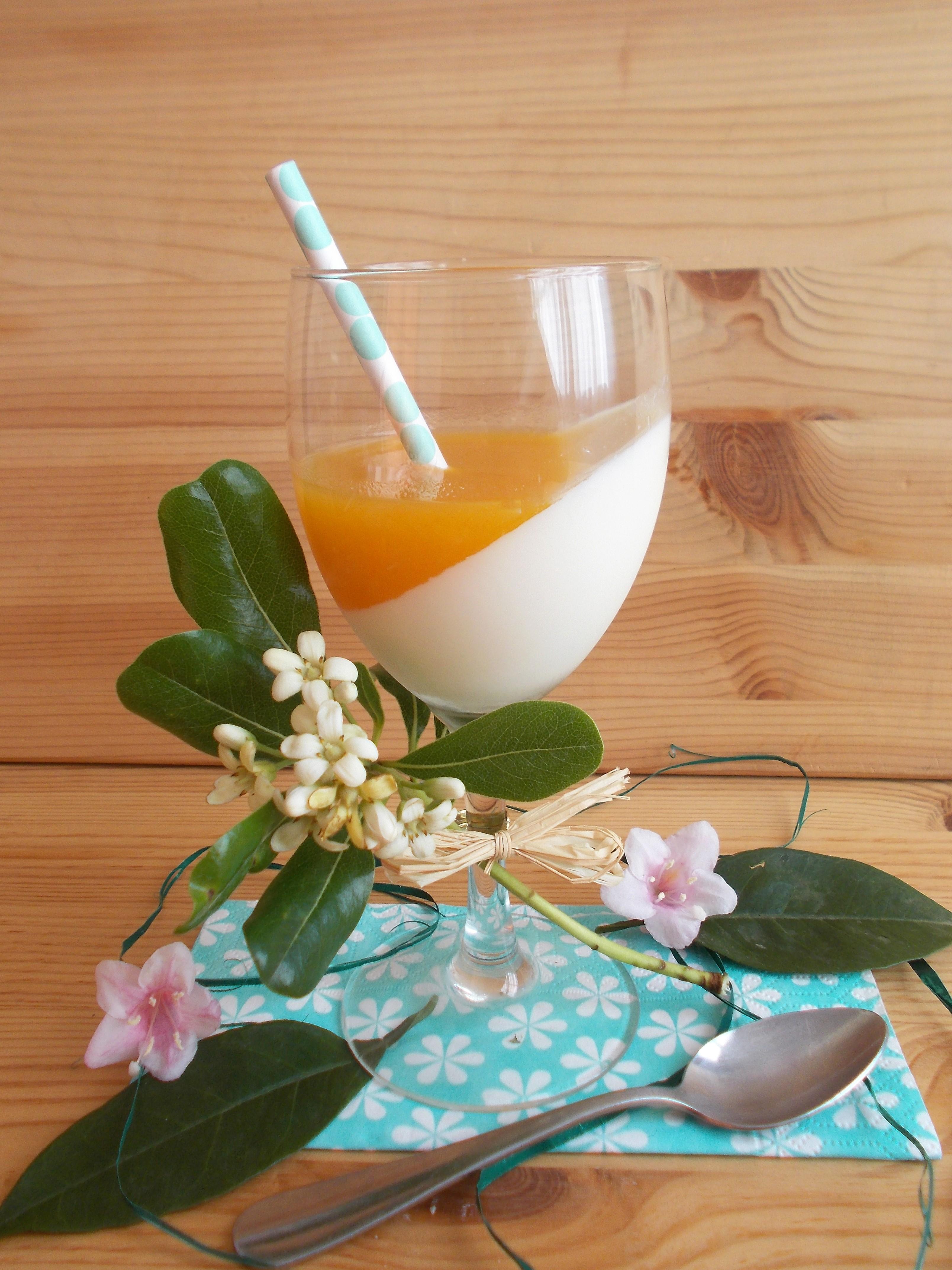 Panna cotta fleur d'oranger et abricot [IG bas]