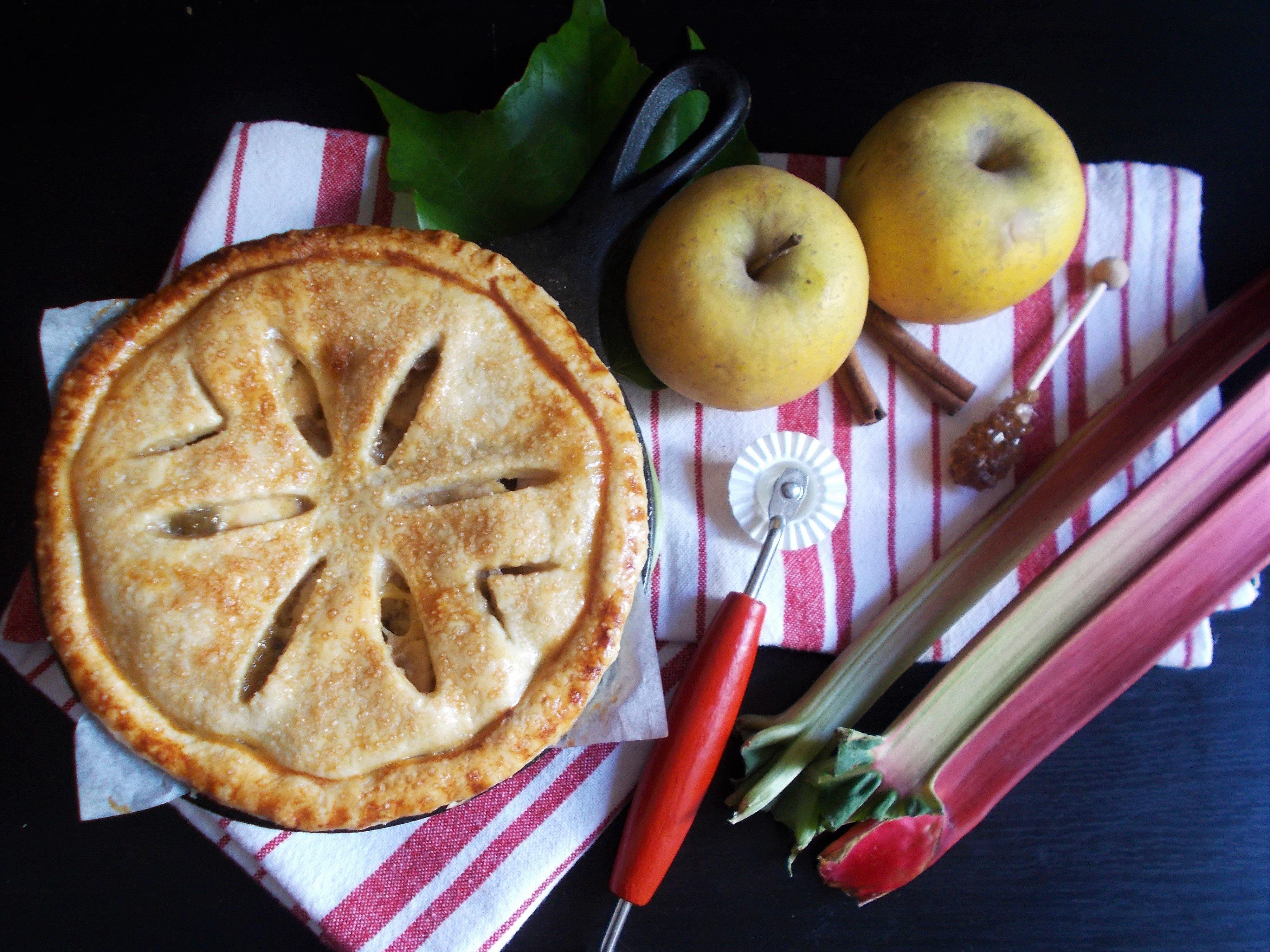 Apple Pie rhubarbe et raisins secs