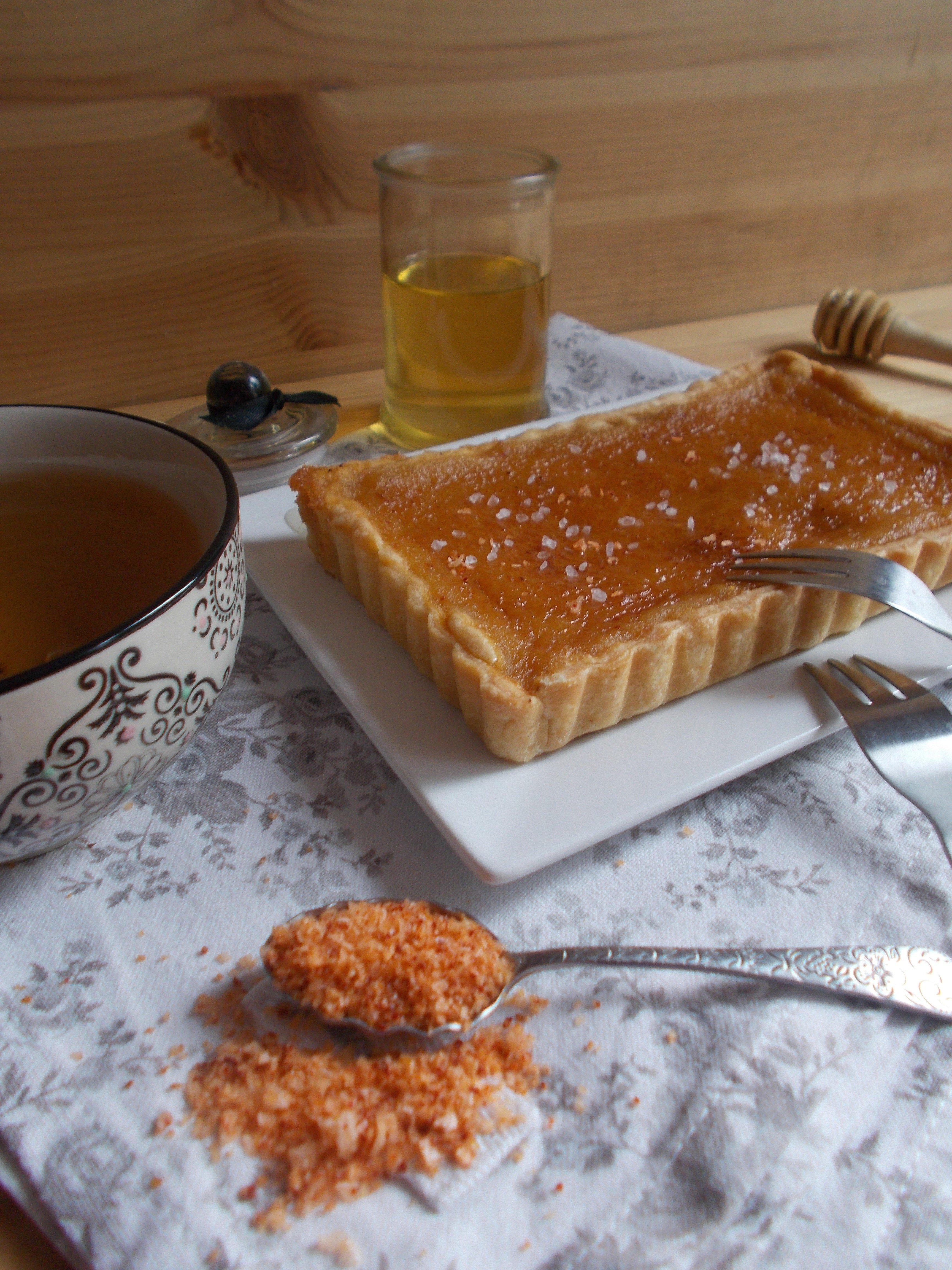 Tarte au miel et fleur de sel