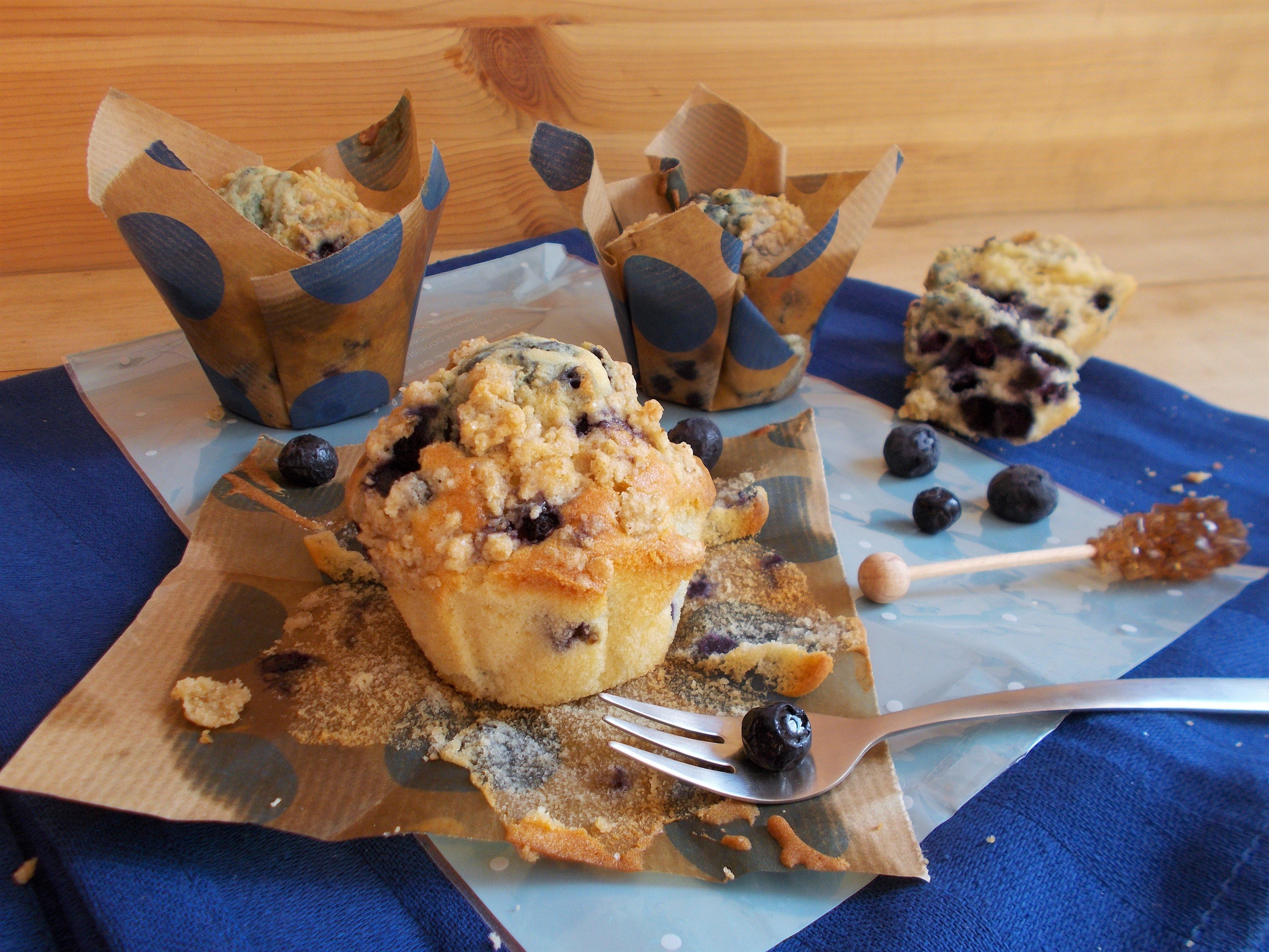 Muffin madeleine à la myrtille