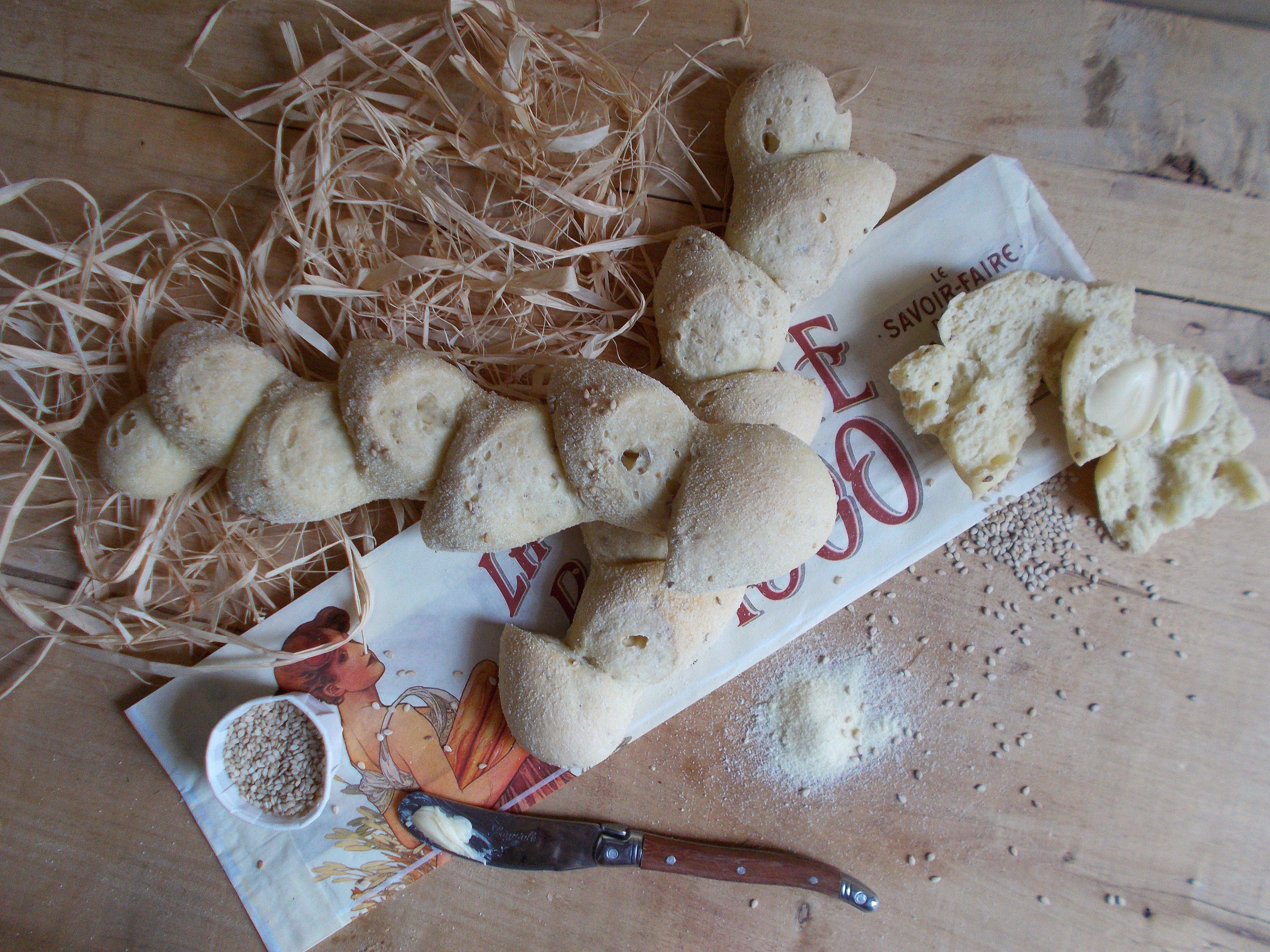 Baguette épi au sésame et semoule de blé