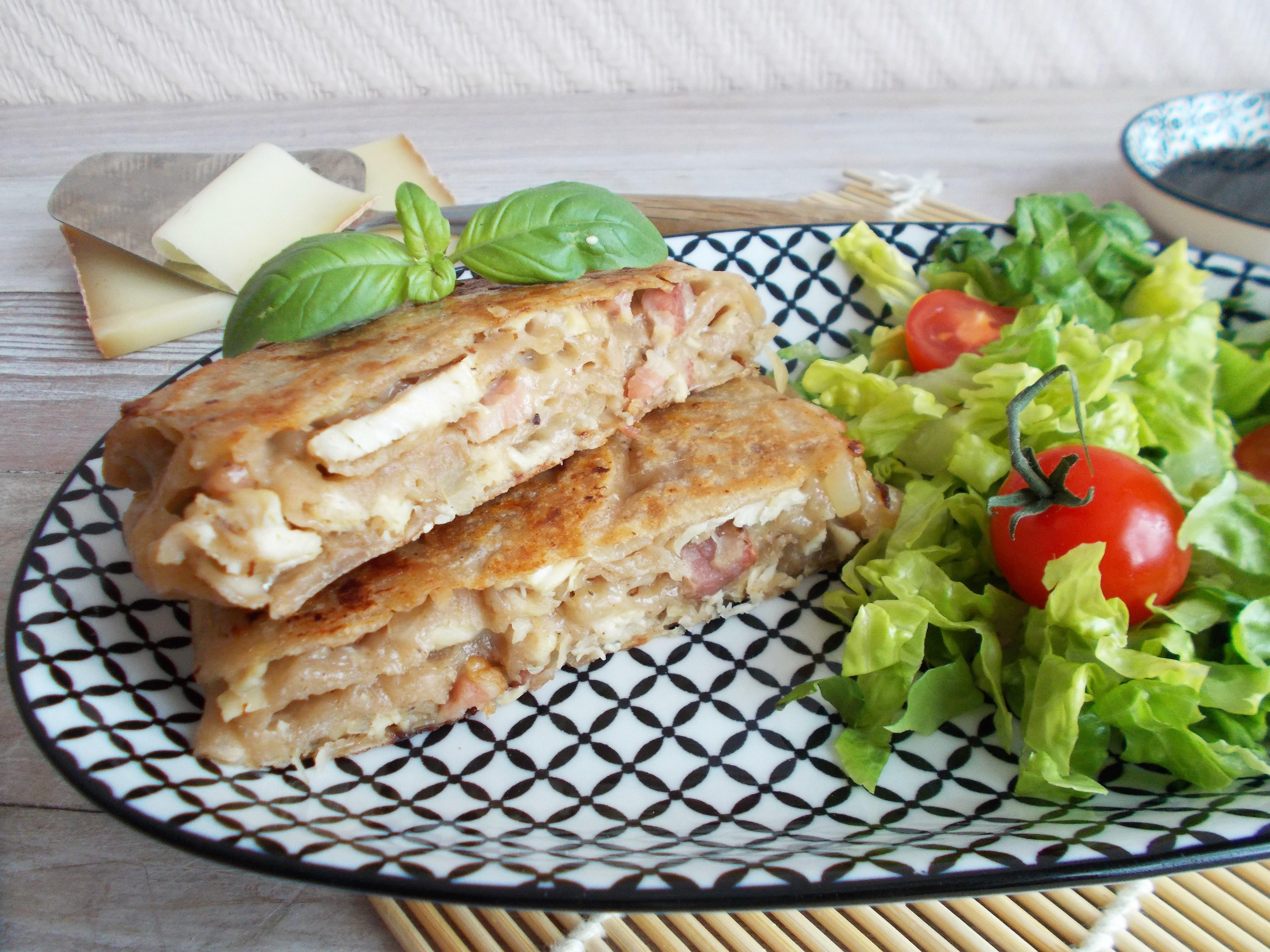 Galette chinoise au poulet rôti et comté (pancake sher ping)