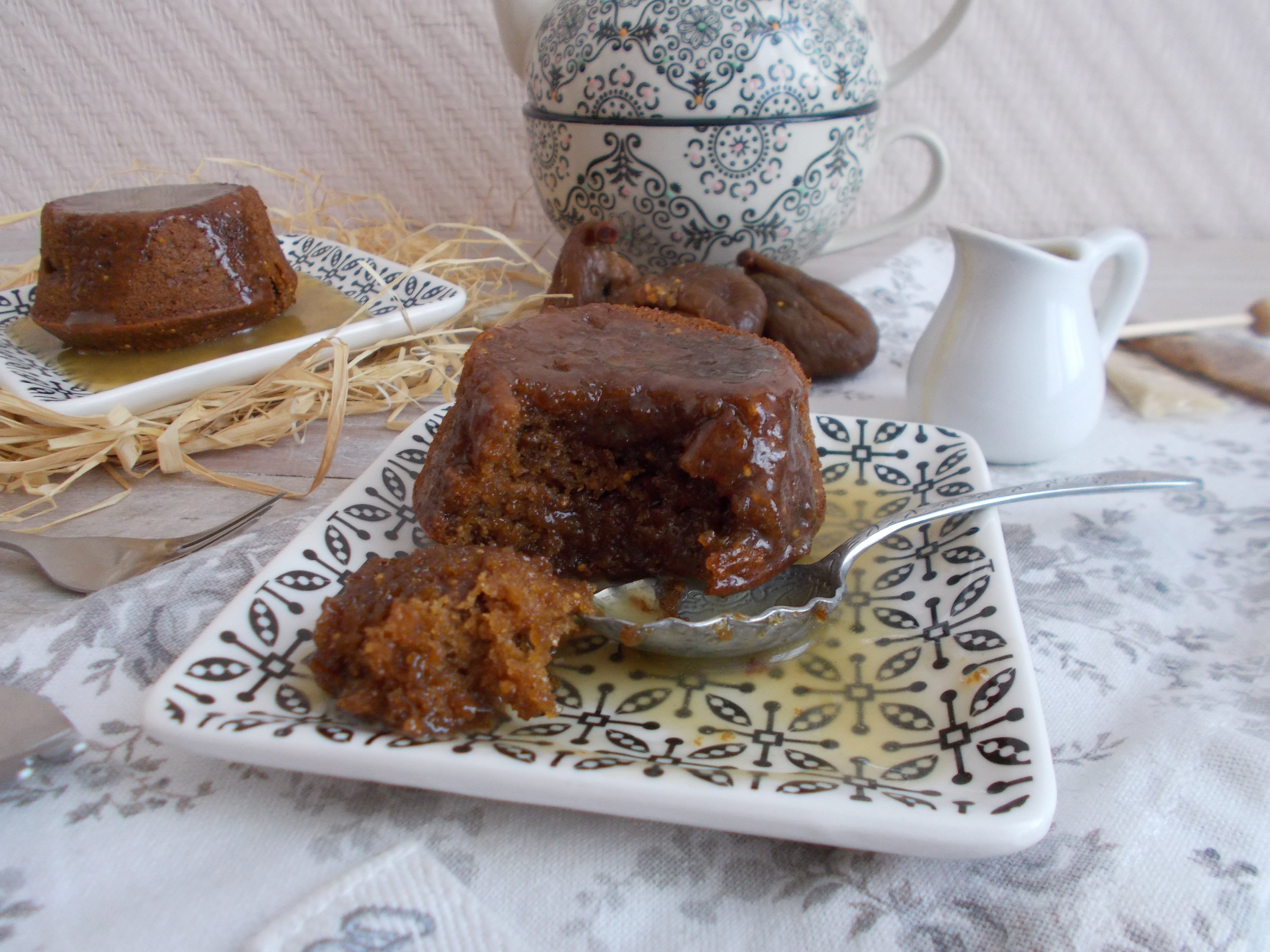 Fig sticky toffee pudding
