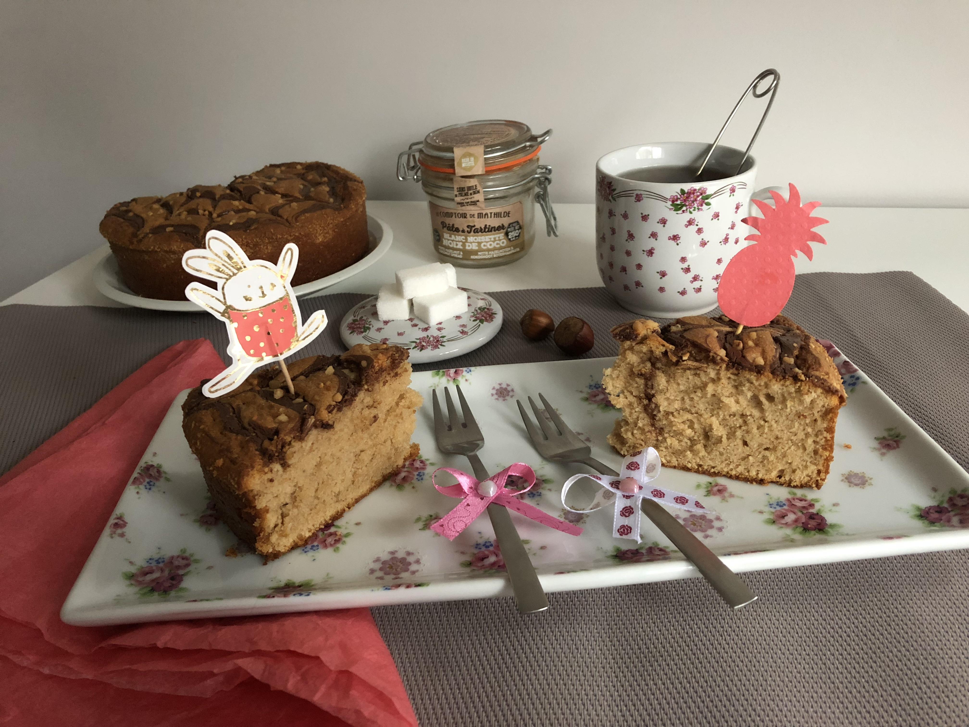 Gâteau aérien coco et noisette