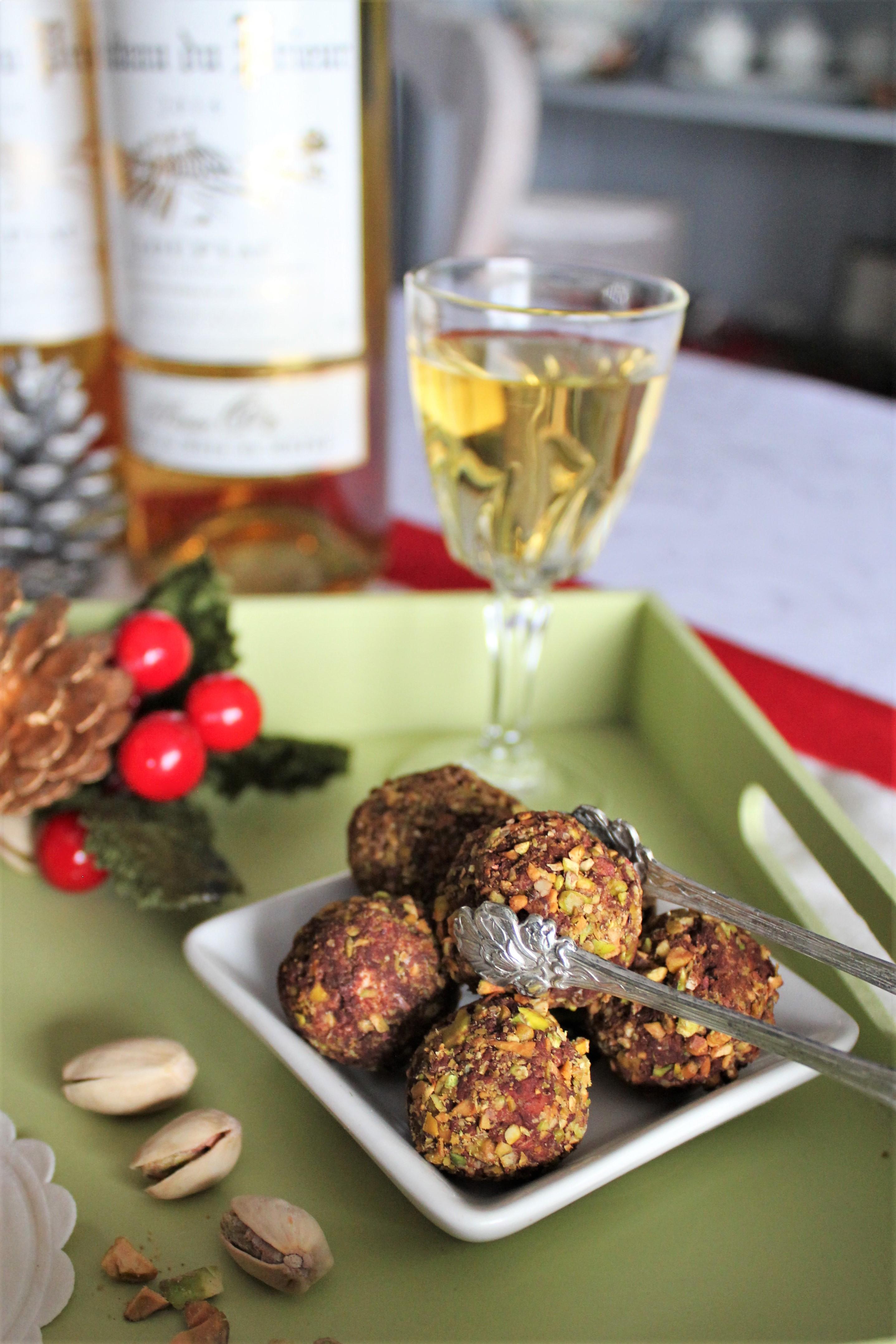 Truffe de foie gras, cacao et pistache