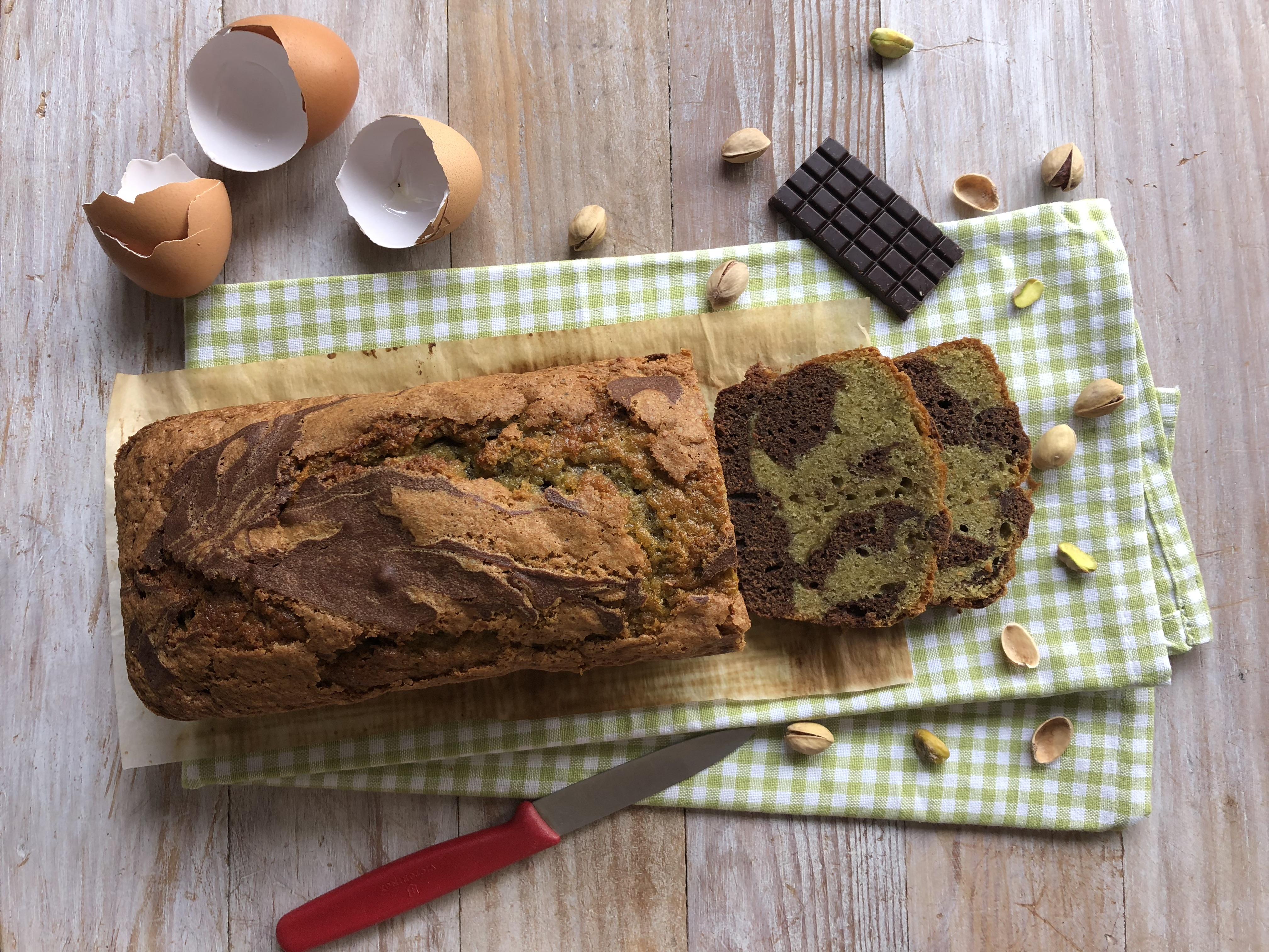 Marbré pistache-chocolat