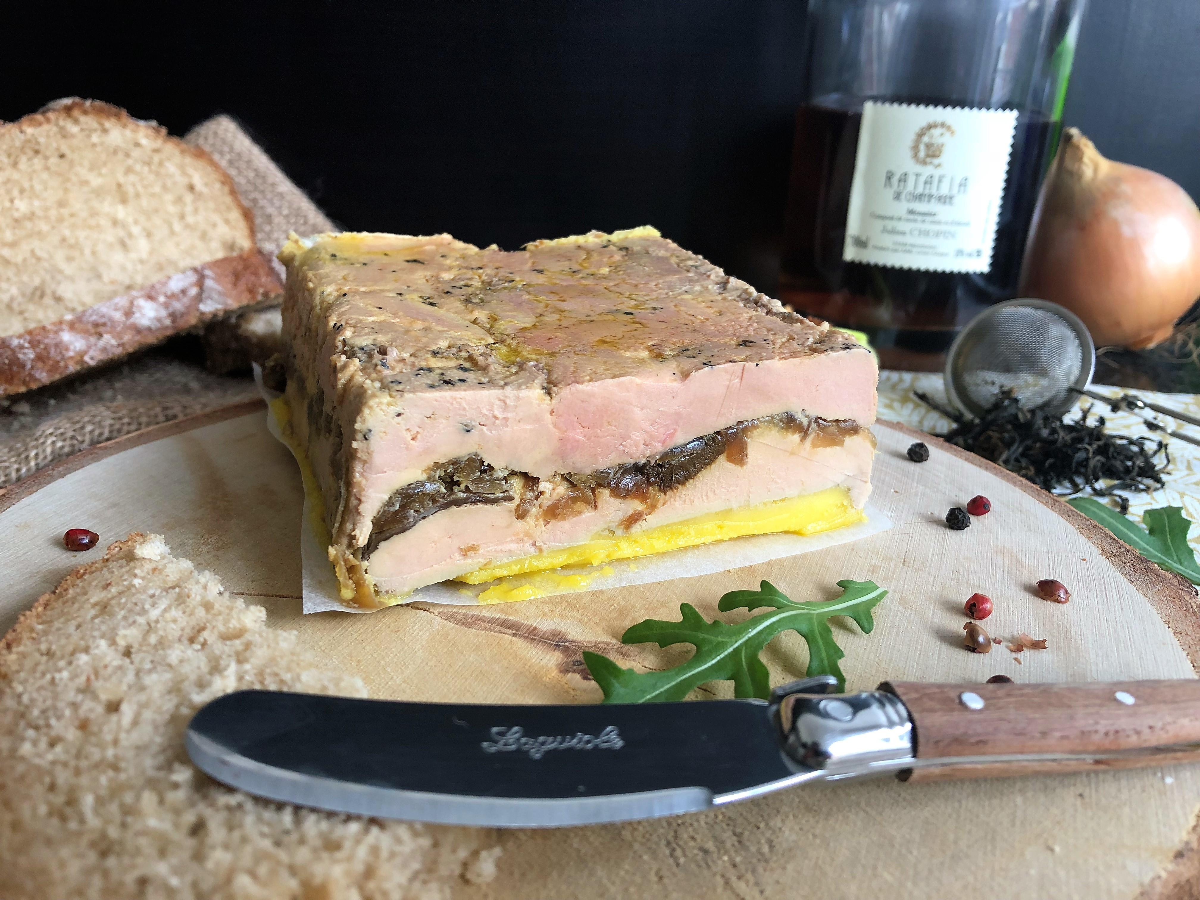 Foie gras aux cèpes et thé fumé