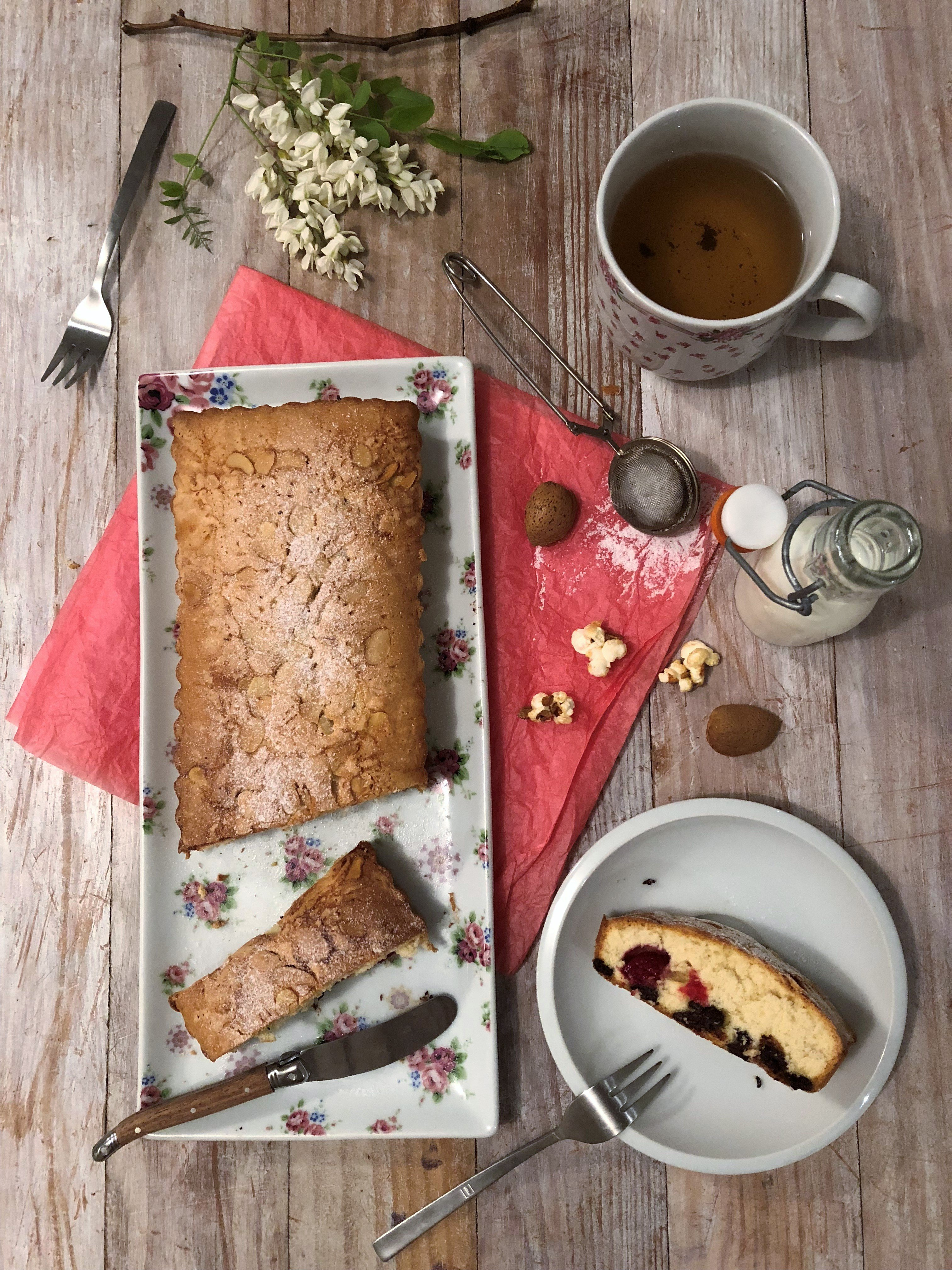 Gâteau madeleine framboise & chocolat