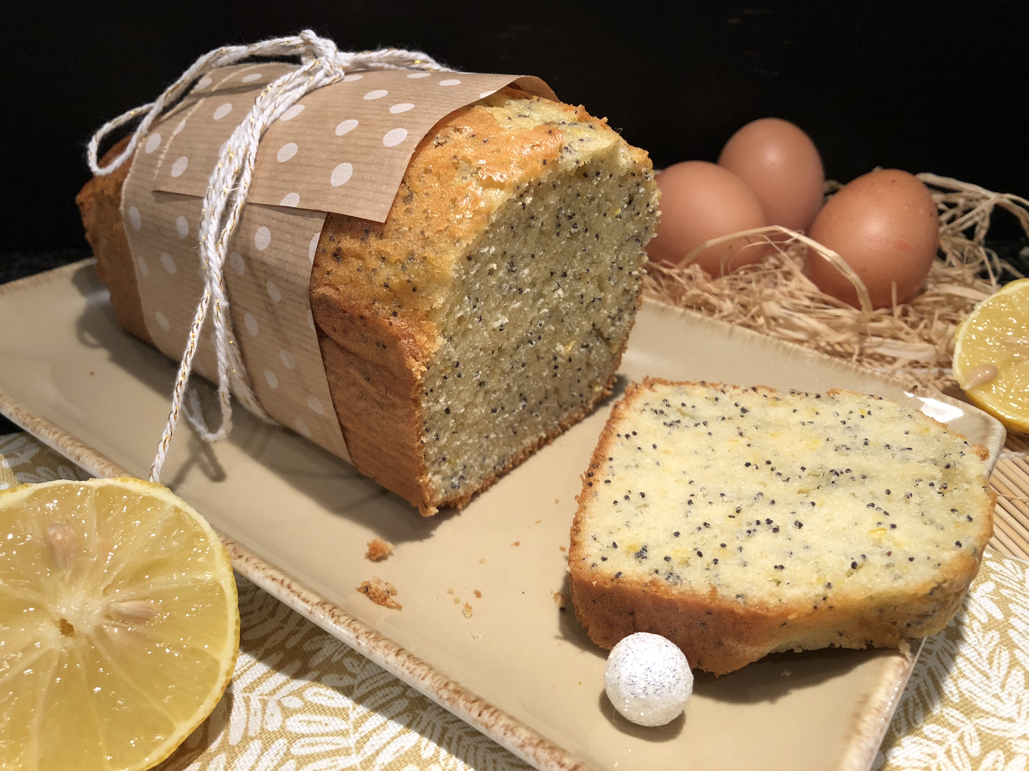 Cake citron-pavot au mascarpone