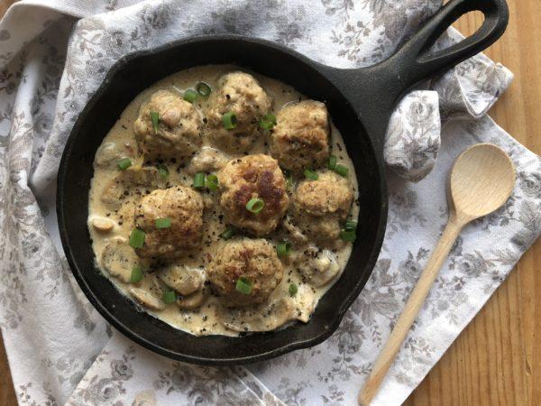 Boulette de veau sauce champignon et gorgonzola