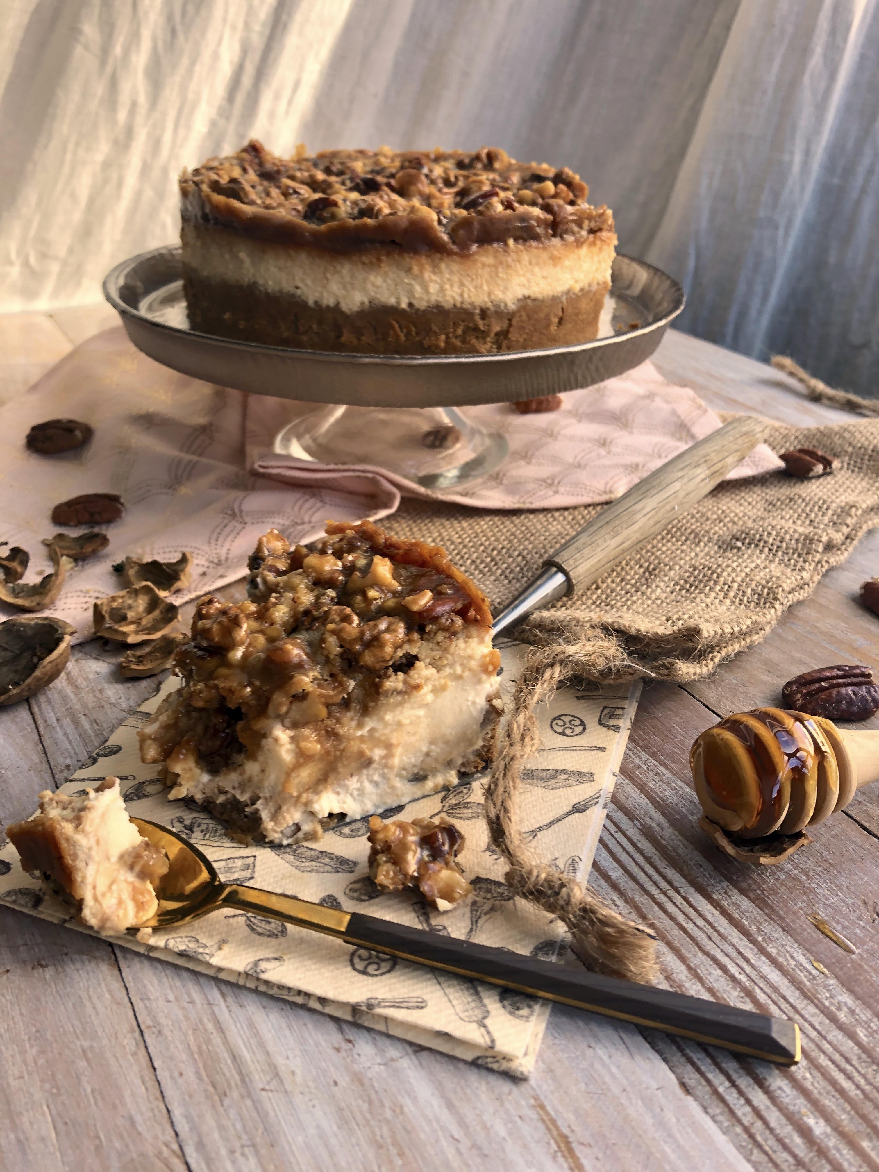 Cheesecake façon tarte pécan