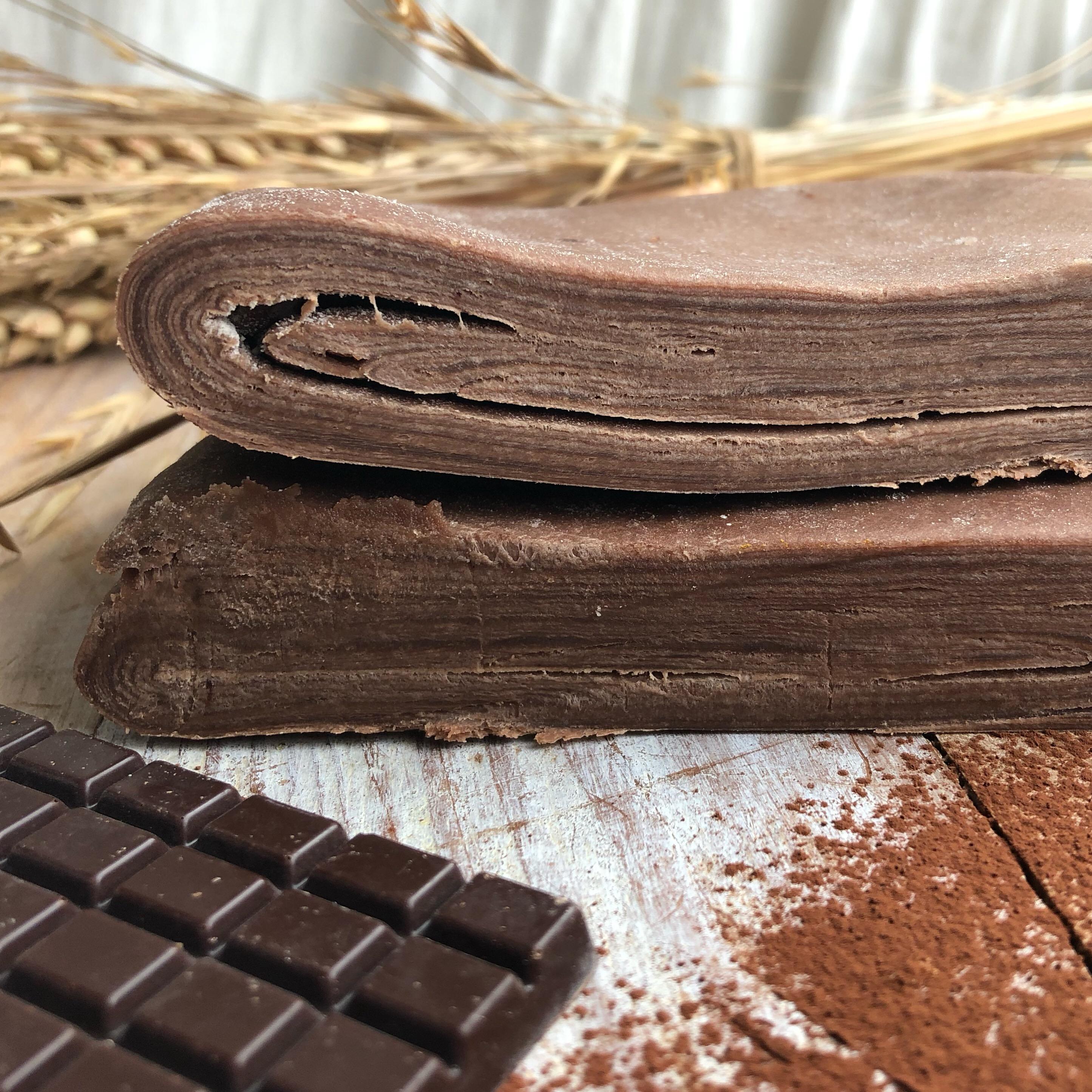 Pâte feuilletée inversée au cacao