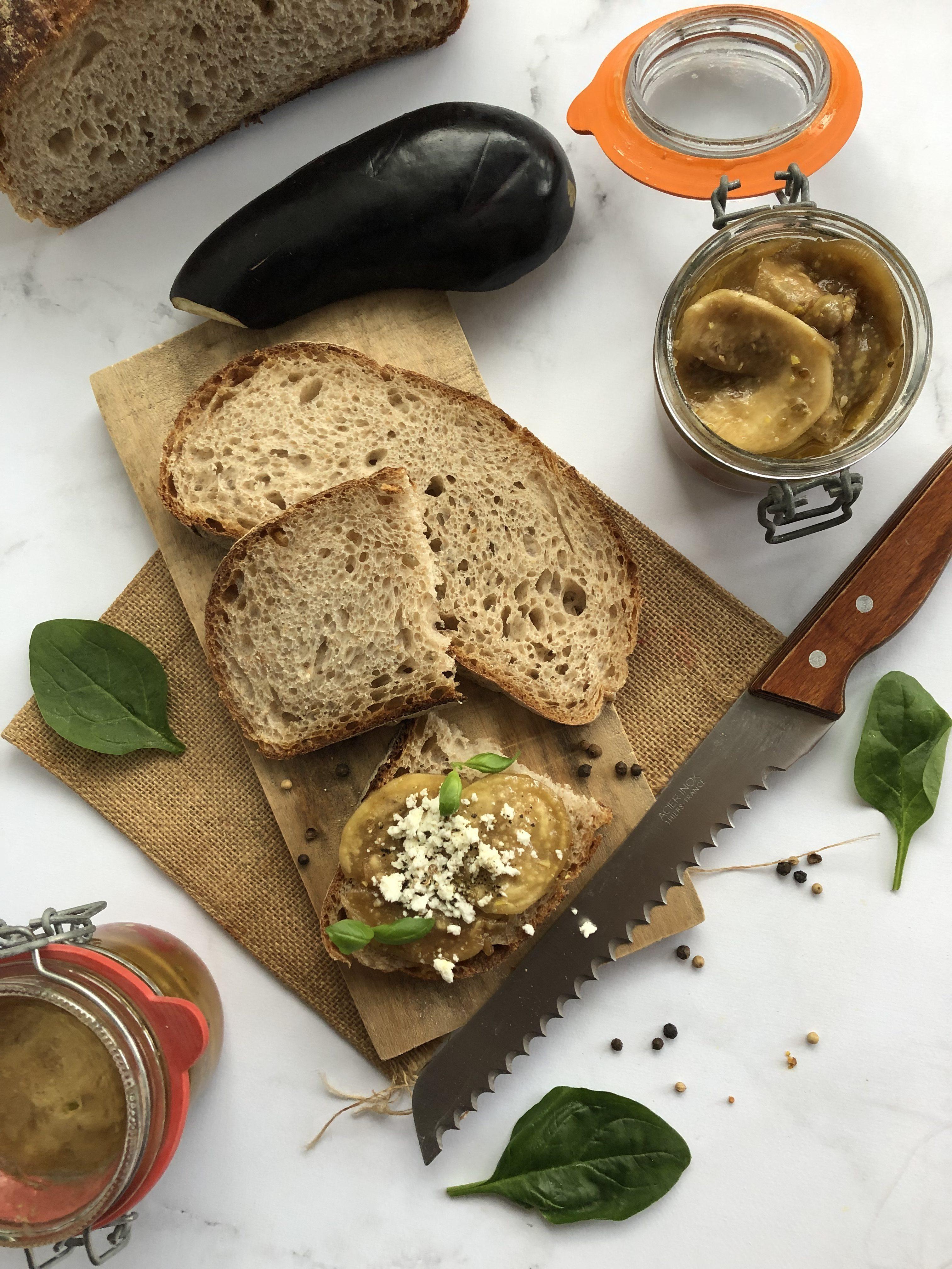 Aubergines marinées aux argumes [pickles]