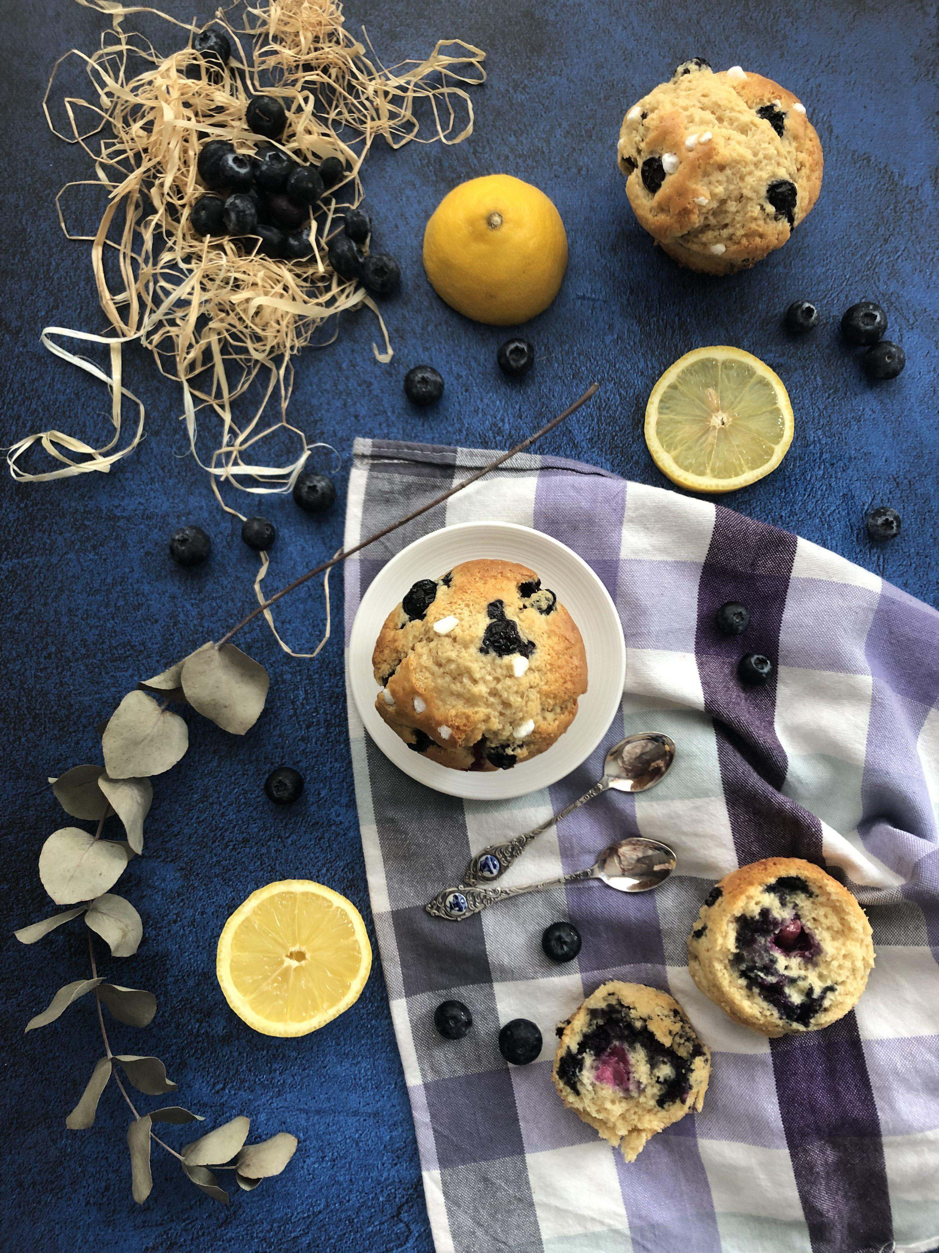 Muffin myrtille citron