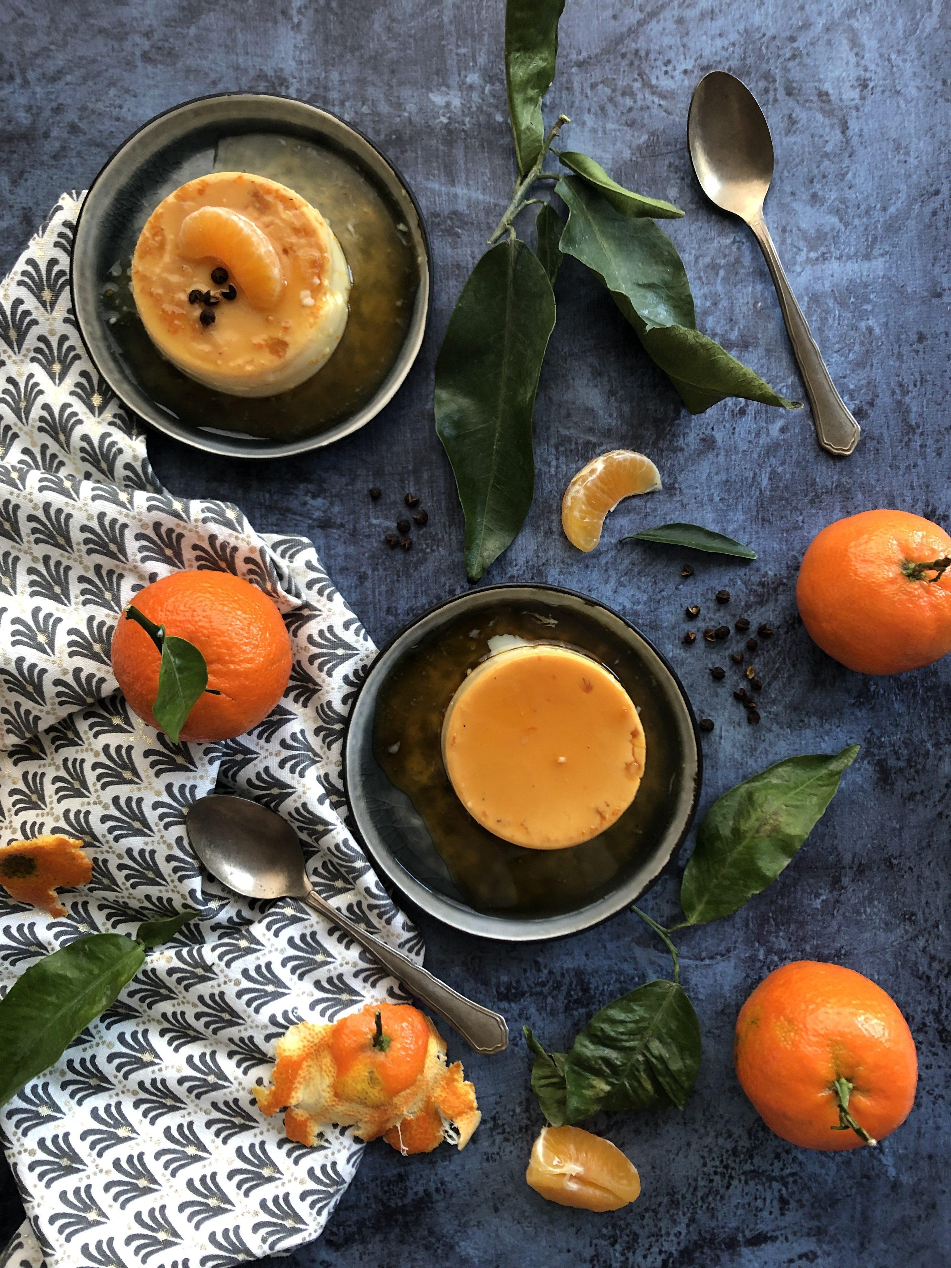 Crème renversée mandarine et poivre du timut