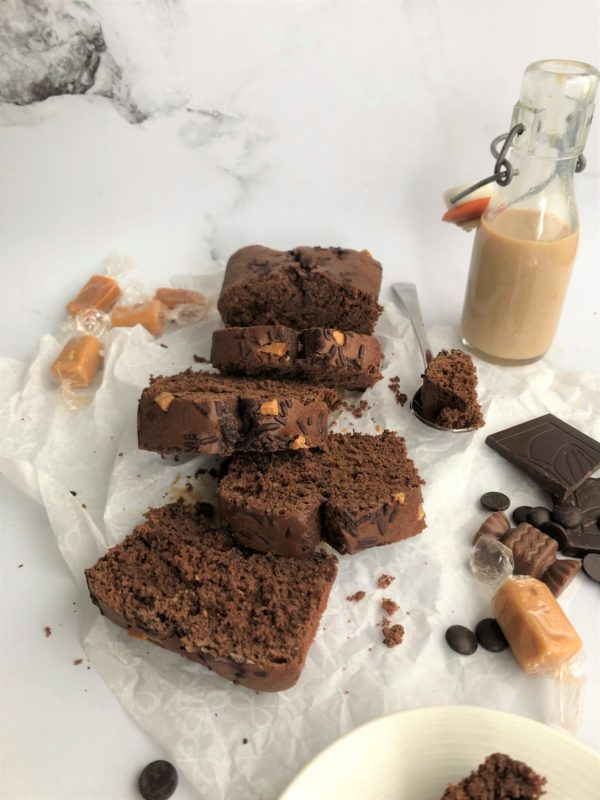 Cake au Baileys et coeur caramel