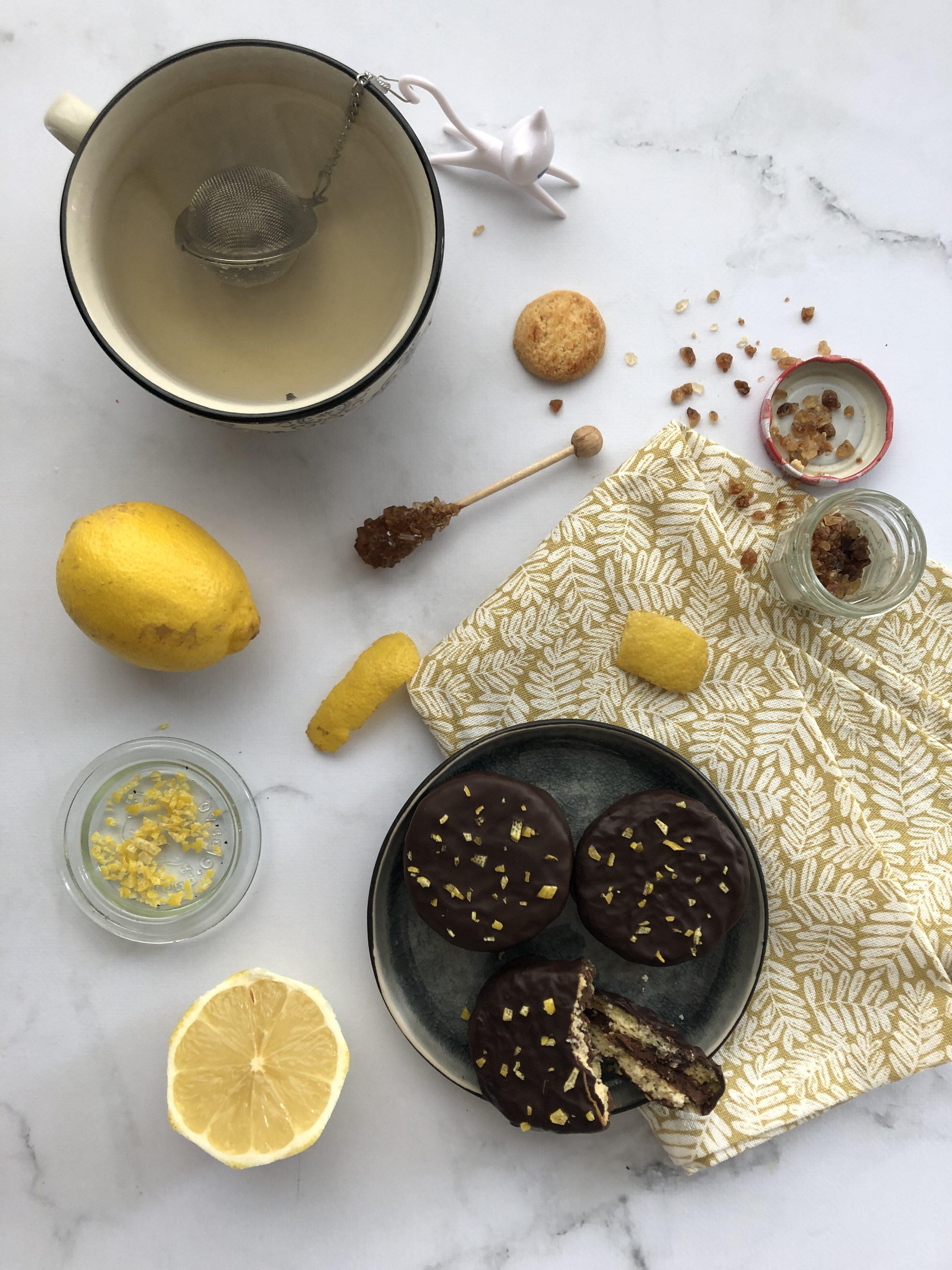 Sablé citron & praliné noisette