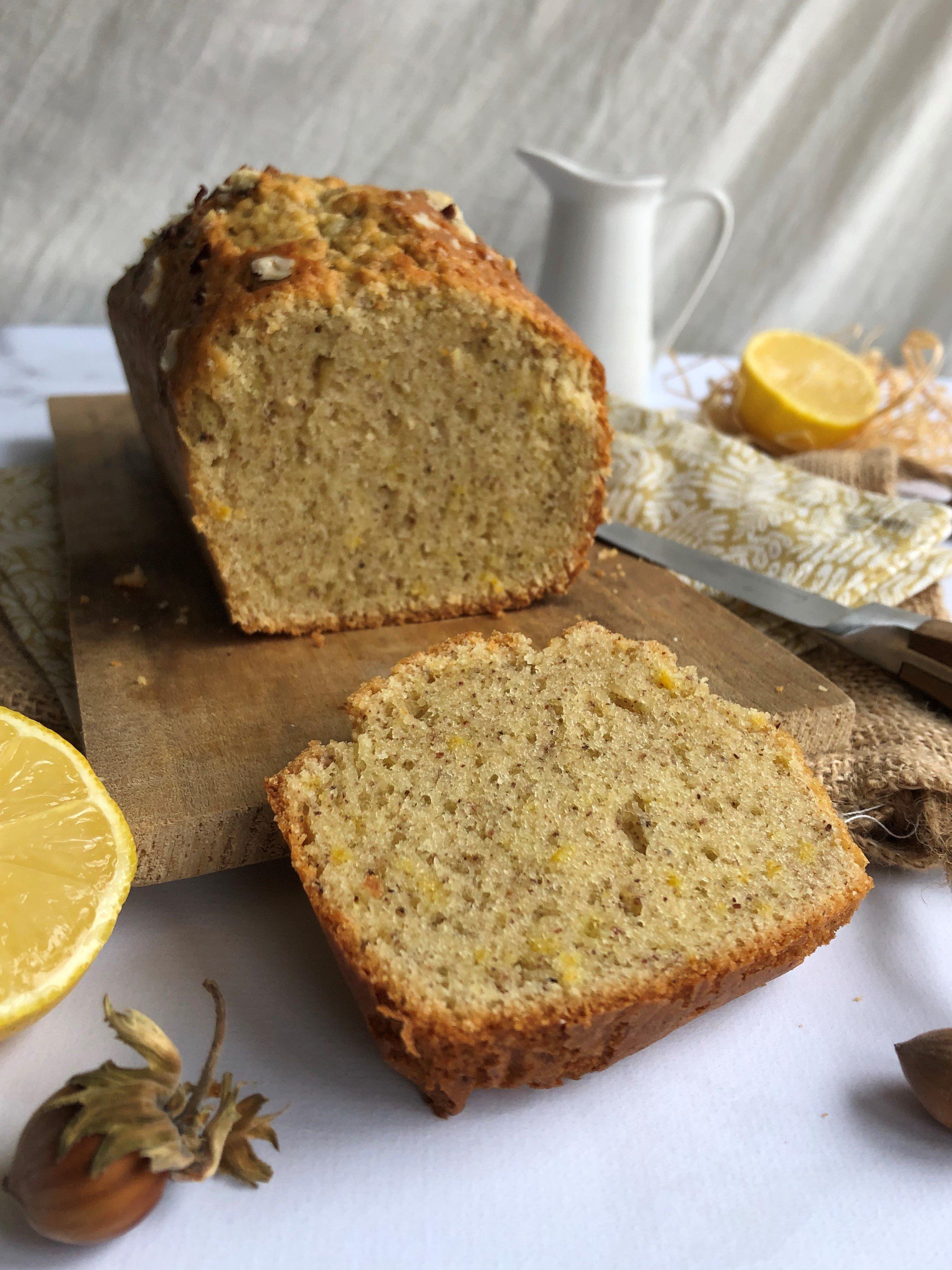 Cake citron et noisette