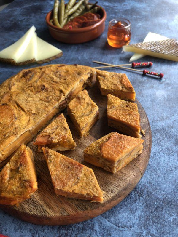Tortilla de patate douce et chorizo